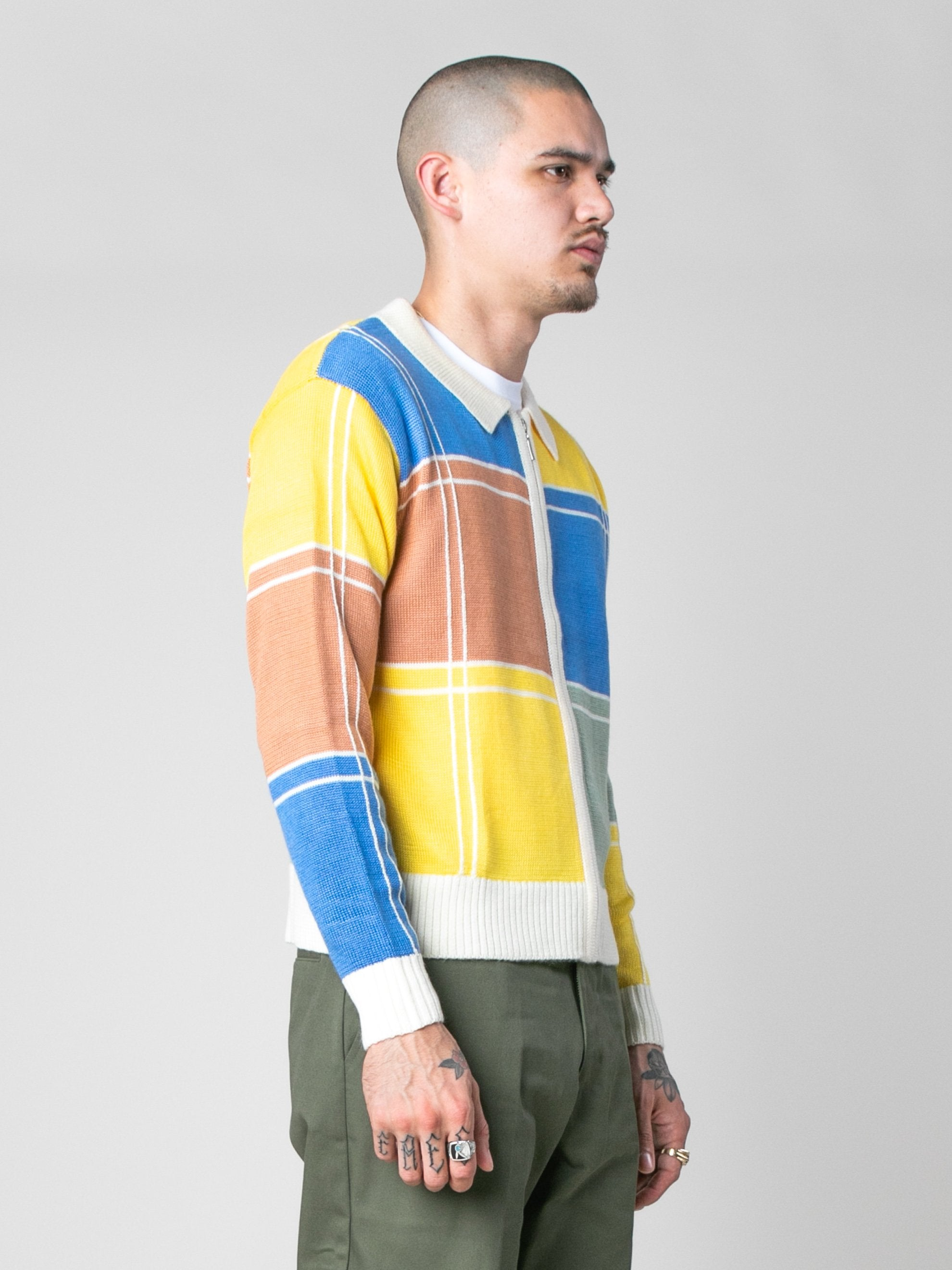 Colorblock Colorblock Zip Sweater 4