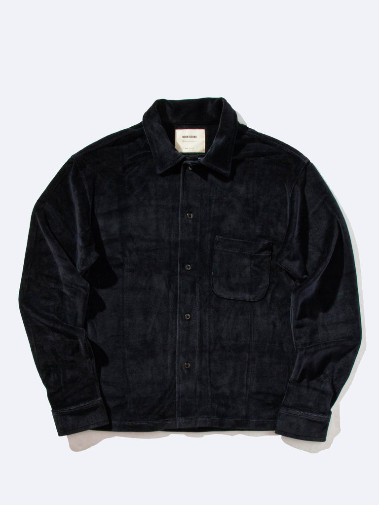 Luciano Velour Long Sleeve Shirt