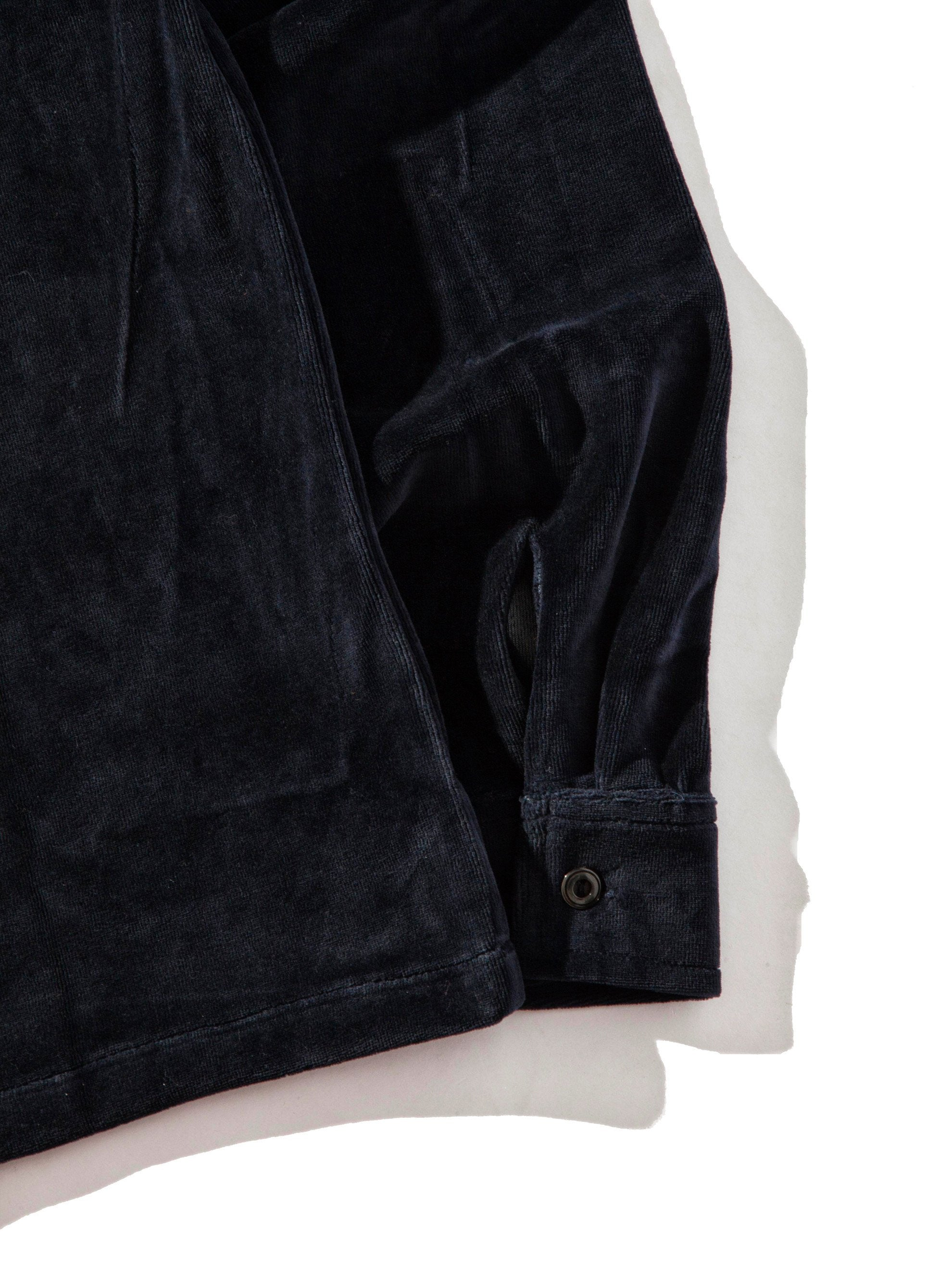 Dark Navy Luciano Velour Long Sleeve Shirt 6