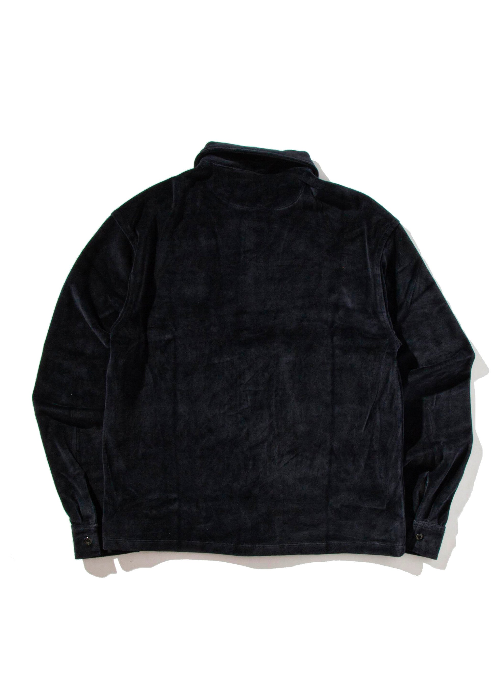 Dark Navy Luciano Velour Long Sleeve Shirt 7