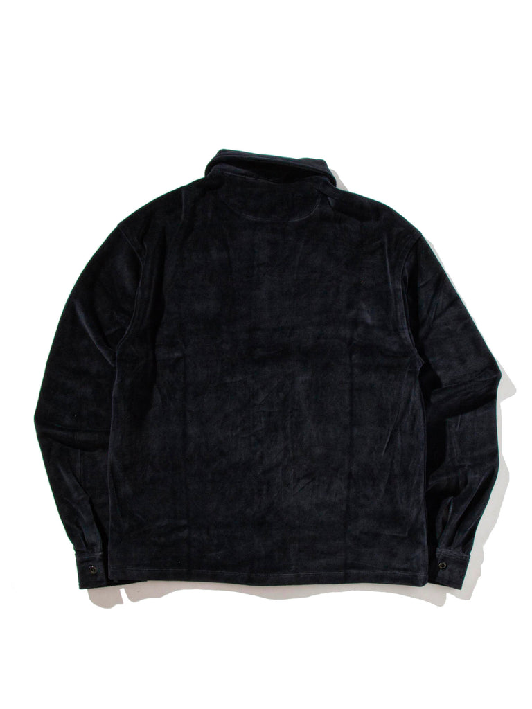 Dark Navy Luciano Velour Long Sleeve Shirt 722053758089