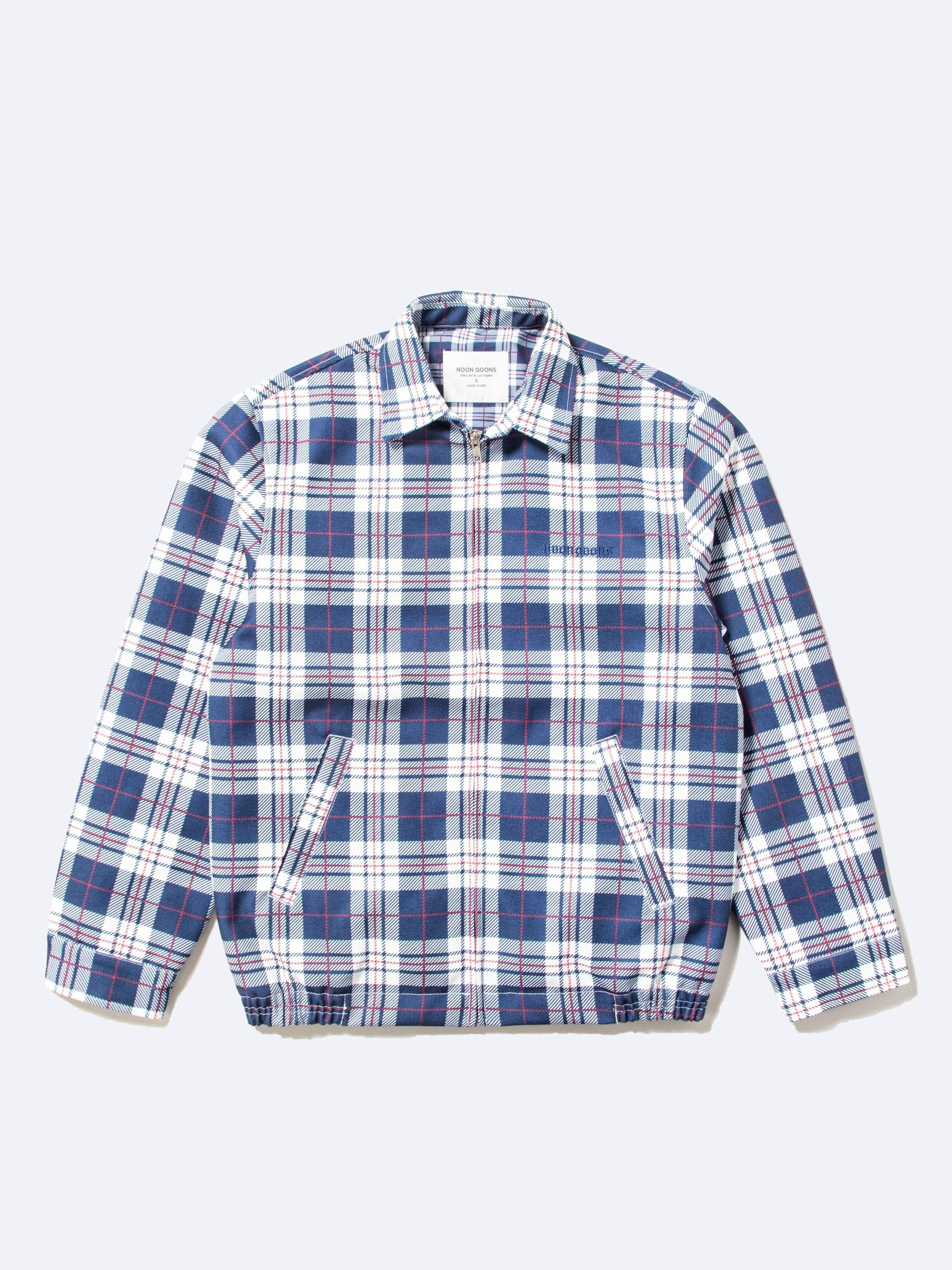 Navy/White Picture Perfect Tartan Jacket 1