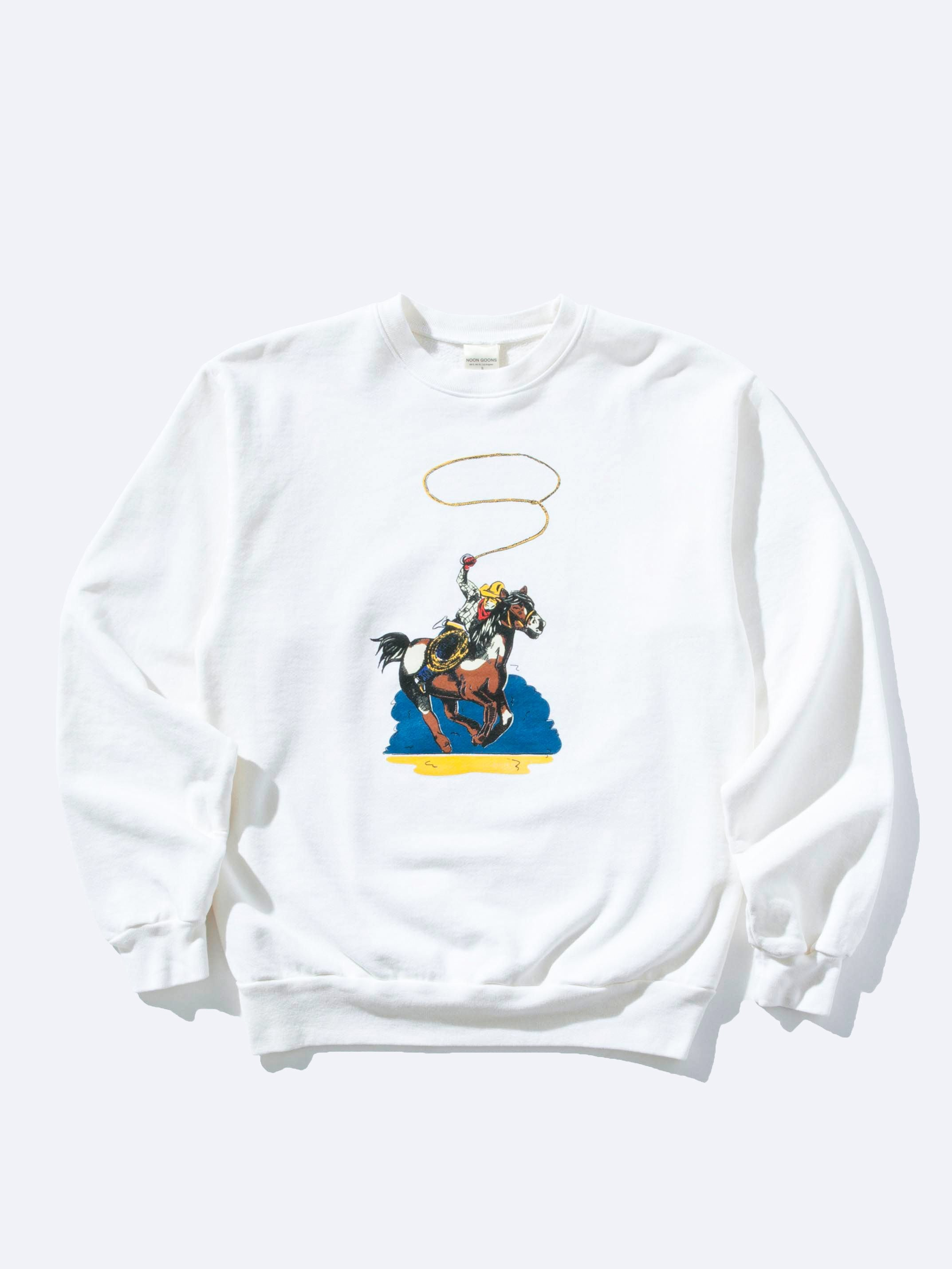 Vintage White Wrangle Em Sweatshirt 1