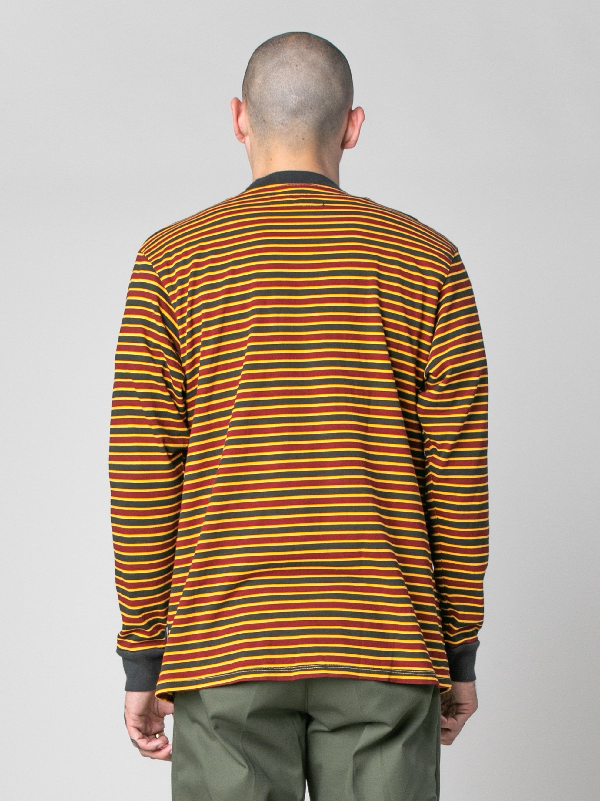 Pale Orange/Burgundy/Black Patricia Stripe LS T-Shirt 6