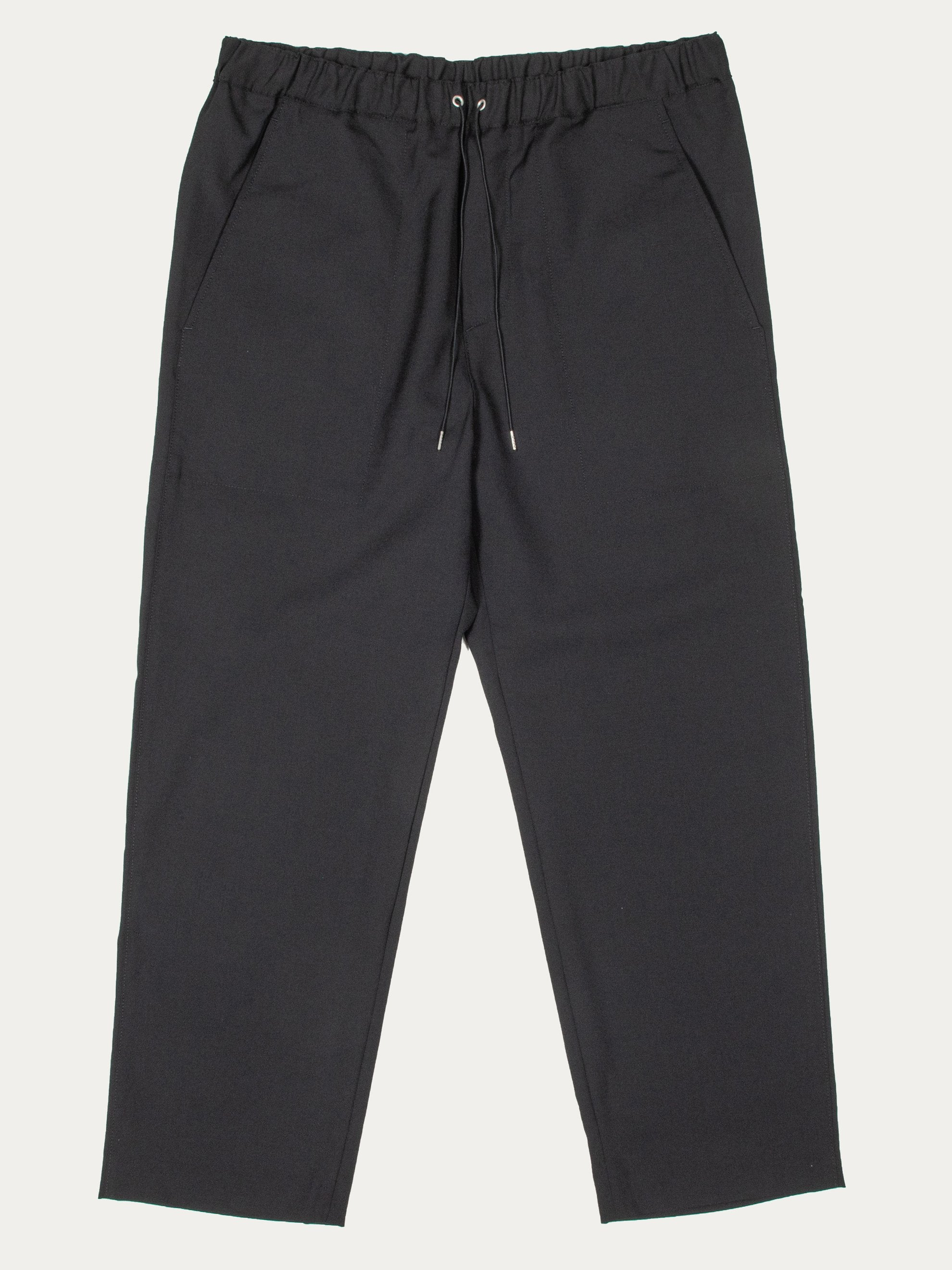 Black Drawcord Pants 1
