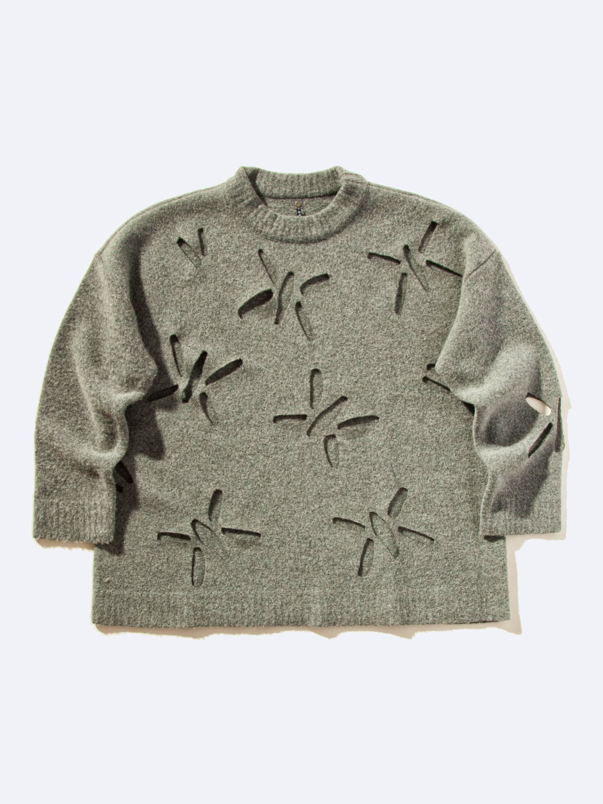 Laser Cut Felted Sweater