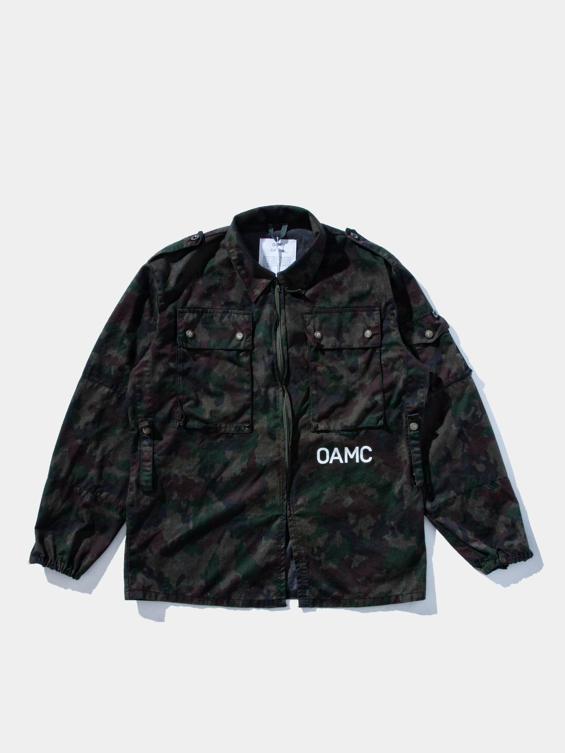 Blue Overdyed Camo People For Peace Jacket 1