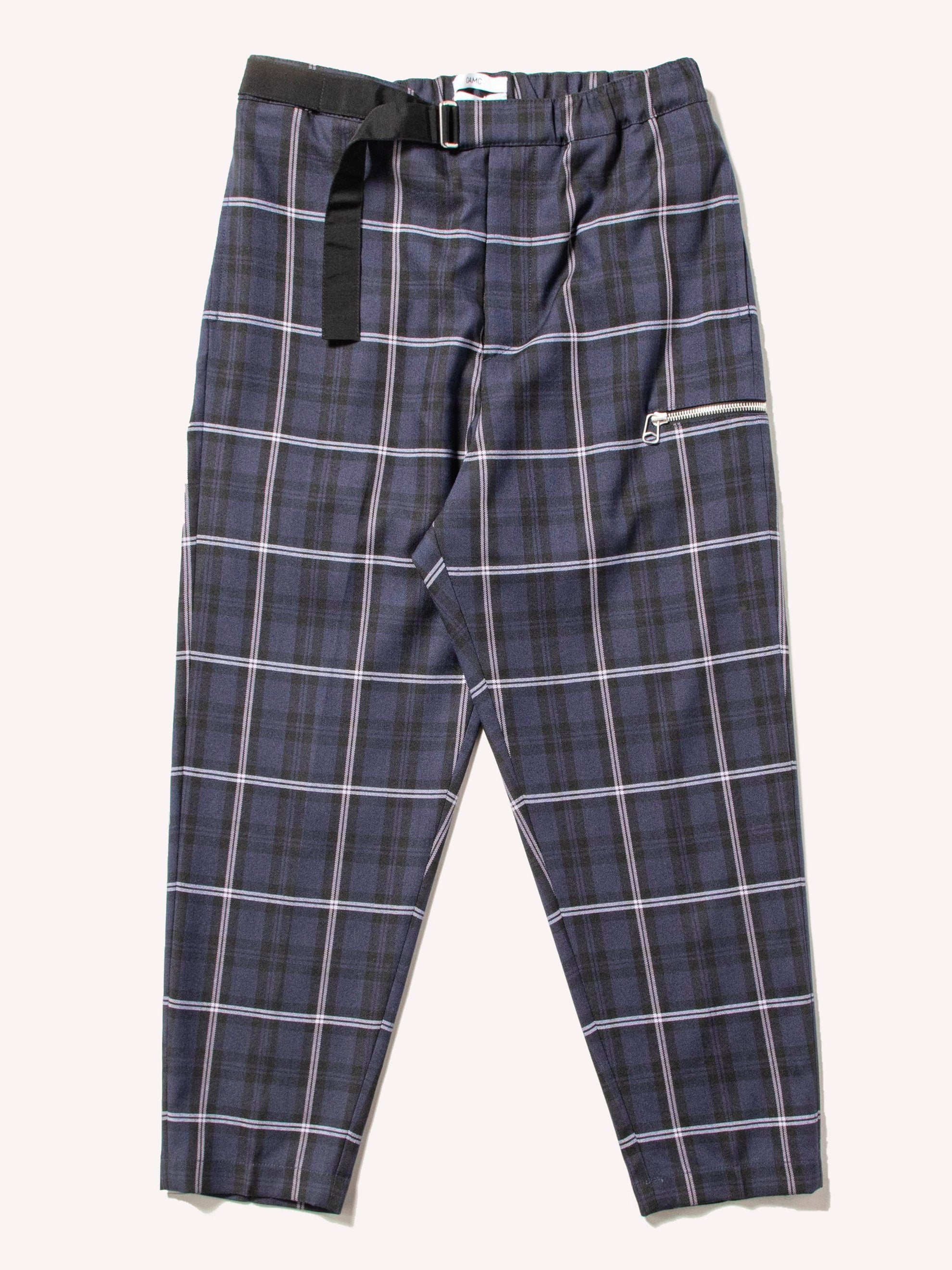 Dark Blue Macro Check Regs Pant 1