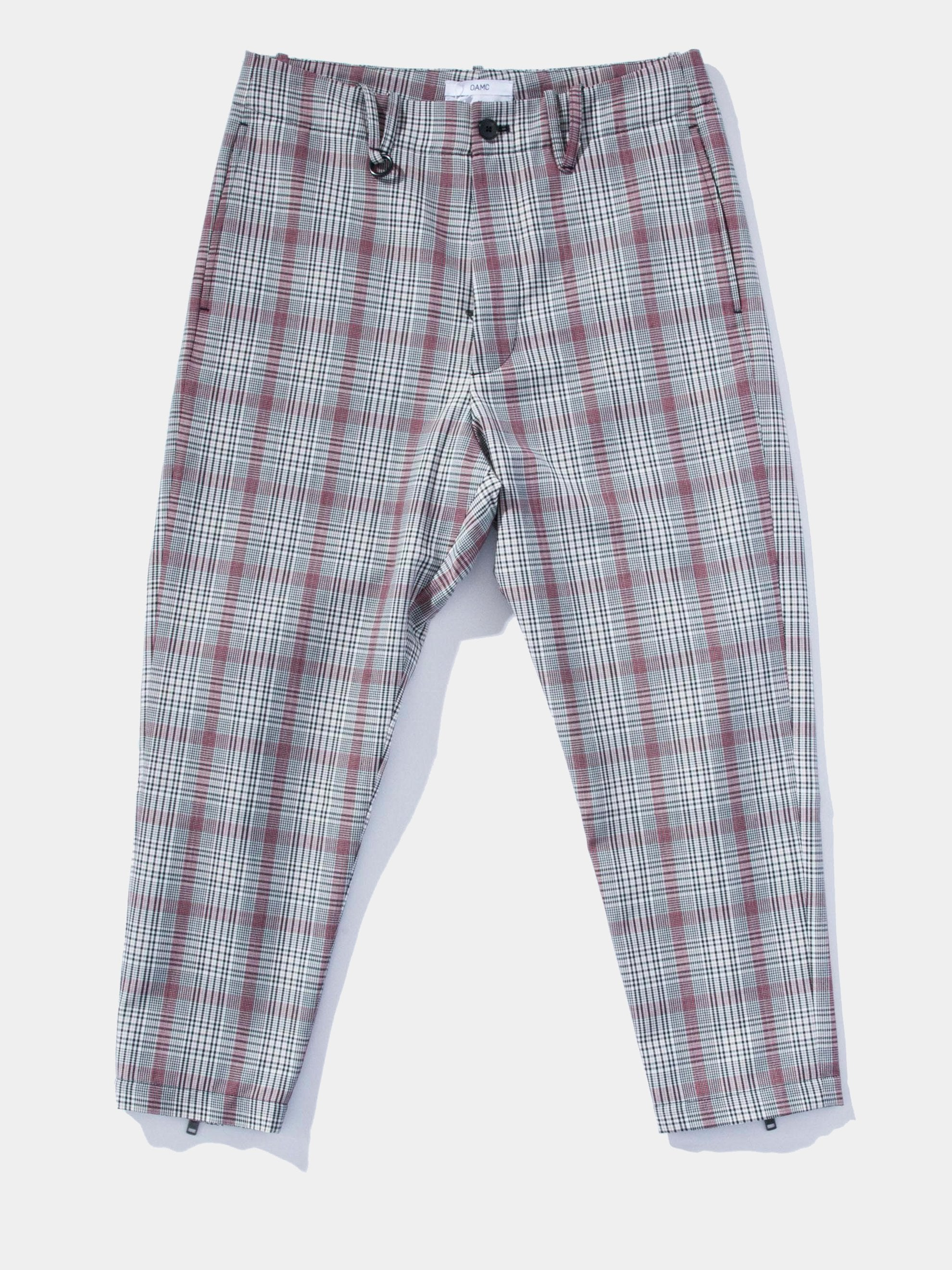 Plaid Cropped Zip Pant 1