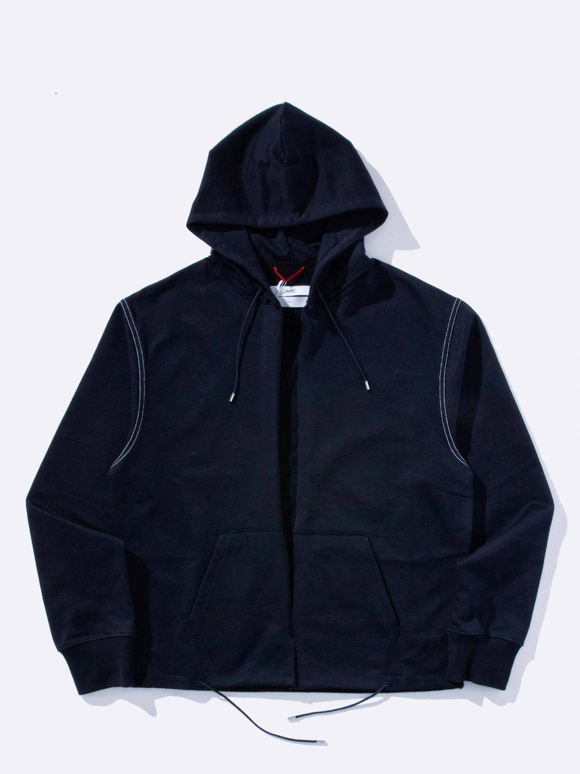 Midnight Blue Slashed Hoodie 1