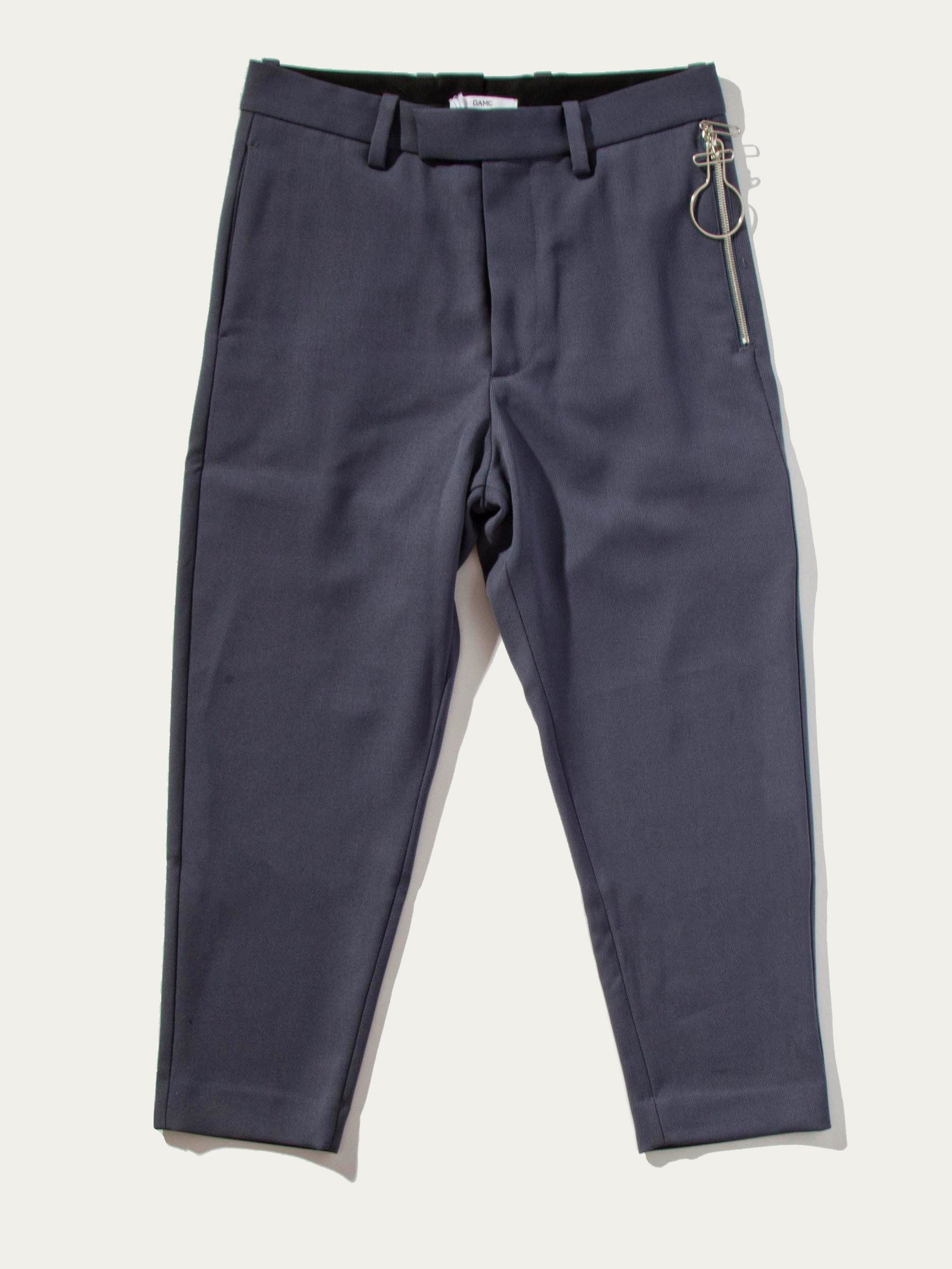 Slate Zip-Lock 2 Button Suit Pant 1