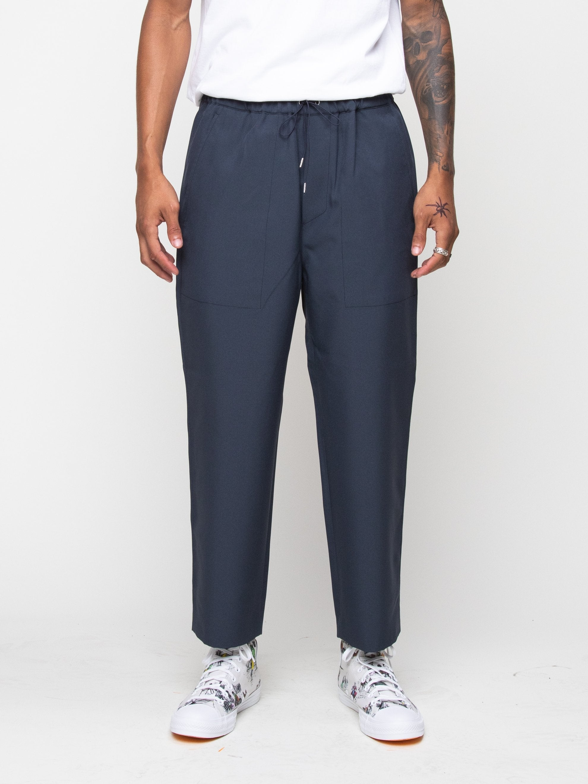 Charcoal Blue Drawcord Pant 3