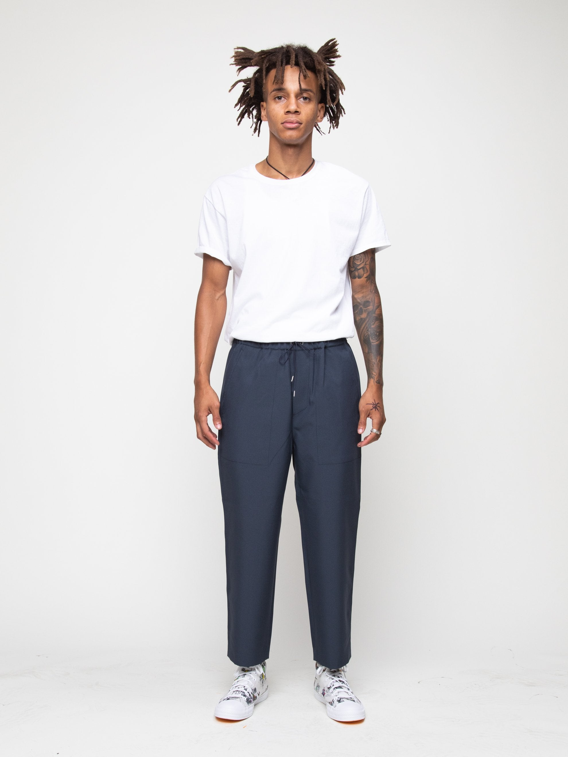 Charcoal Blue Drawcord Pant 2
