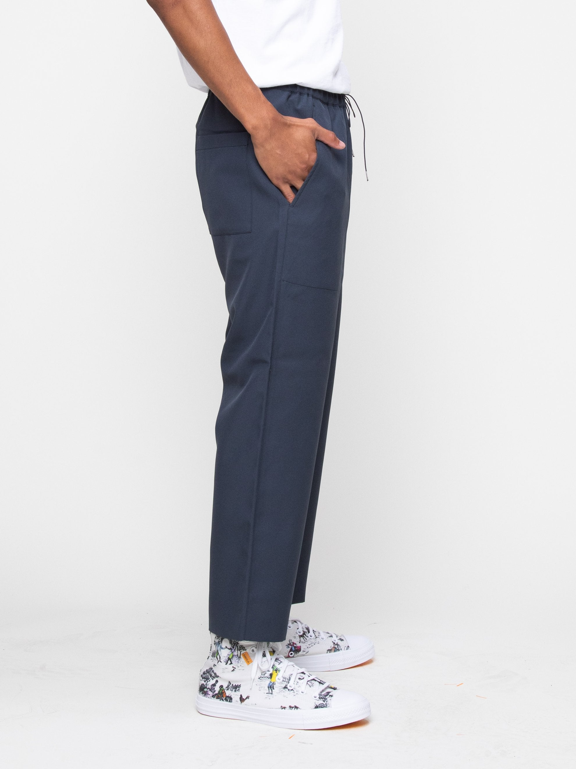 Charcoal Blue Drawcord Pant 4