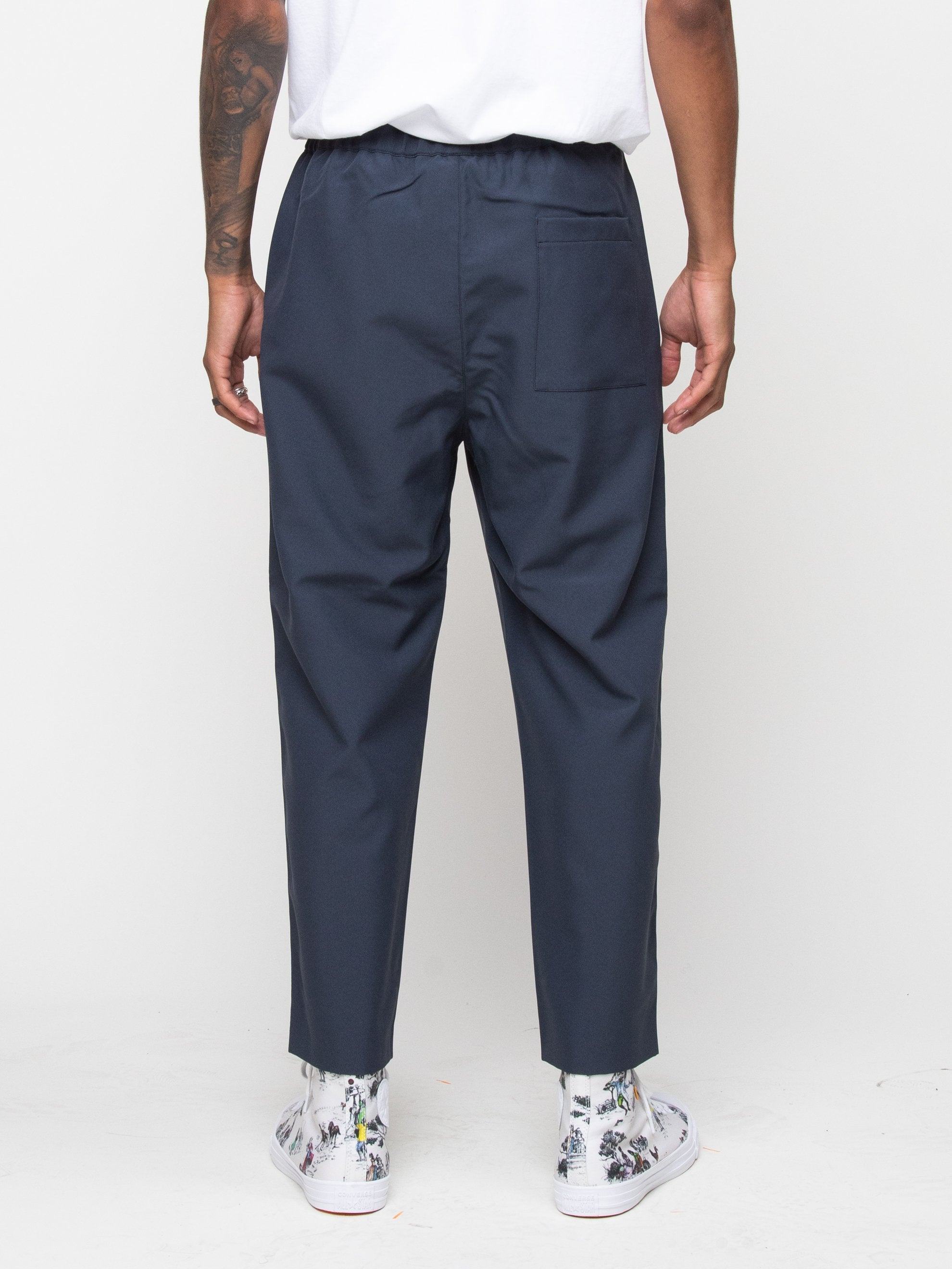 Charcoal Blue Drawcord Pant 5