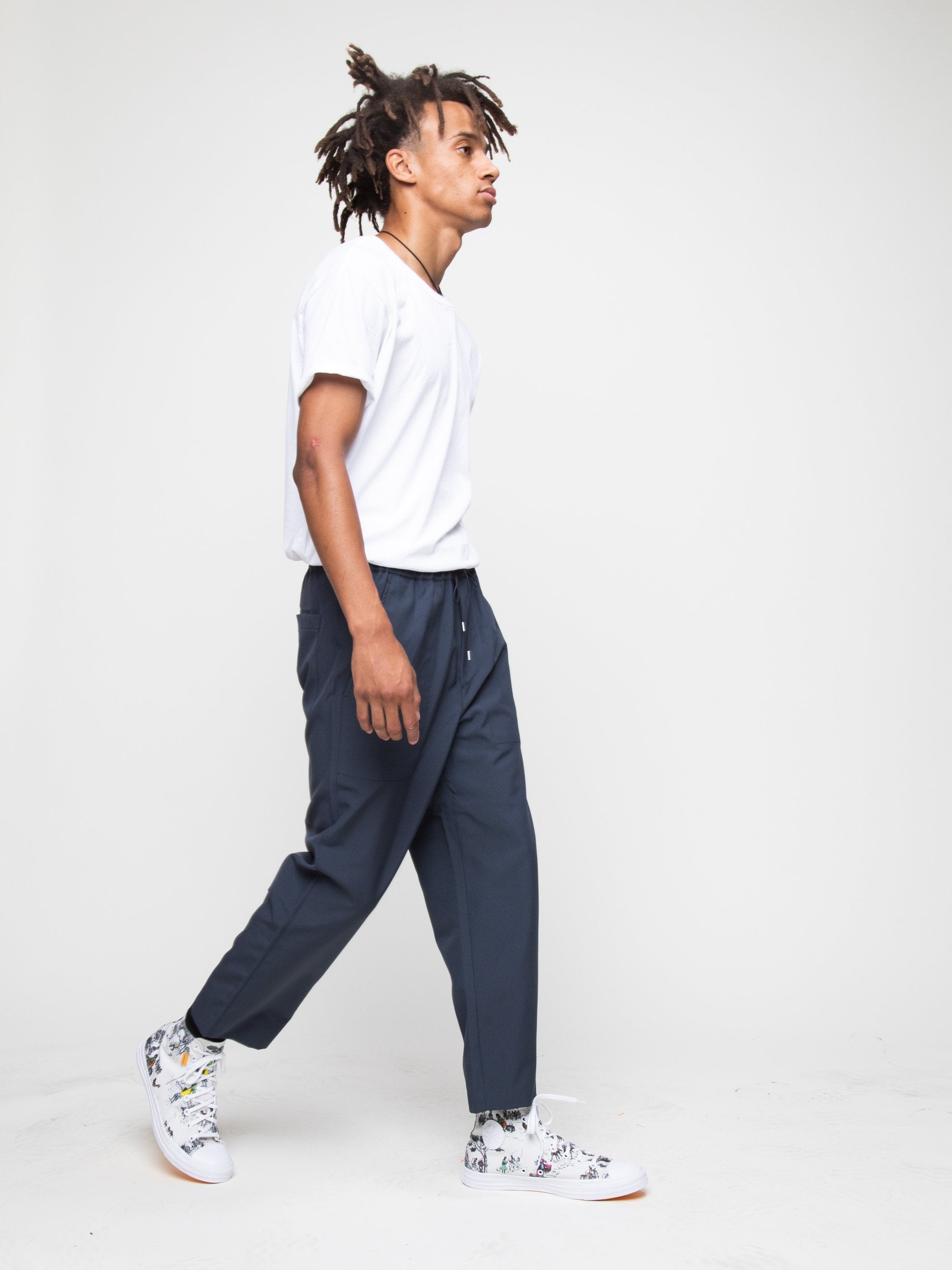 Charcoal Blue Drawcord Pant 6