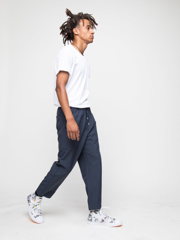 Charcoal Blue Drawcord Pant 615715656138829