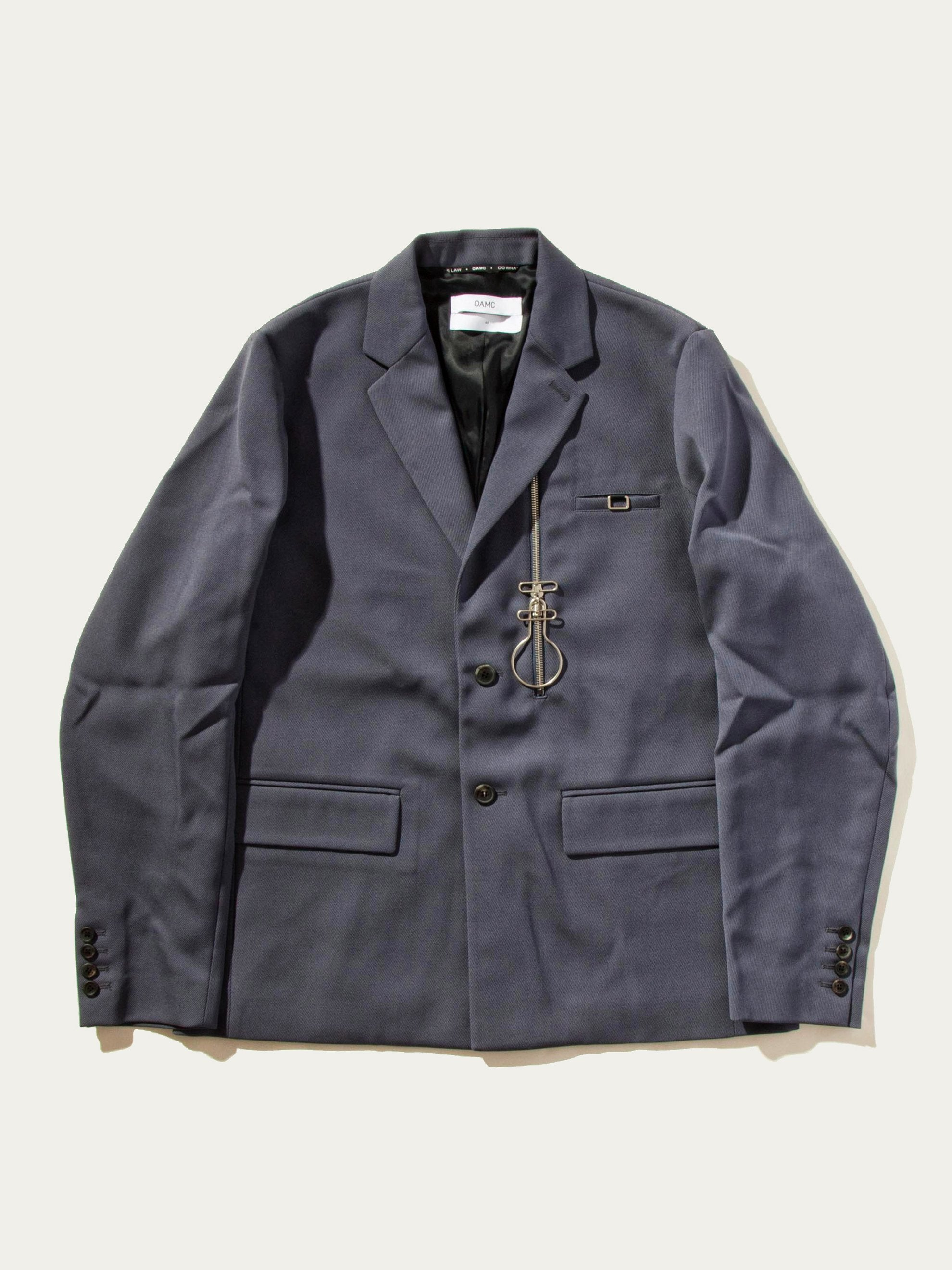Slate Zip-Lock 2-Button Suit Jacket 1