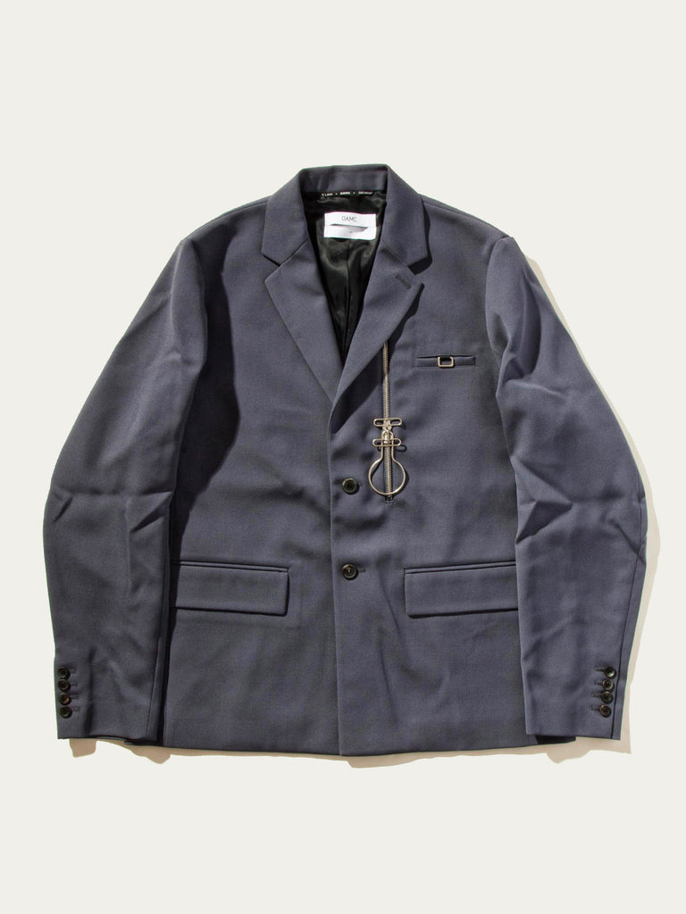 Zip-Lock 2-Button Suit Jacket