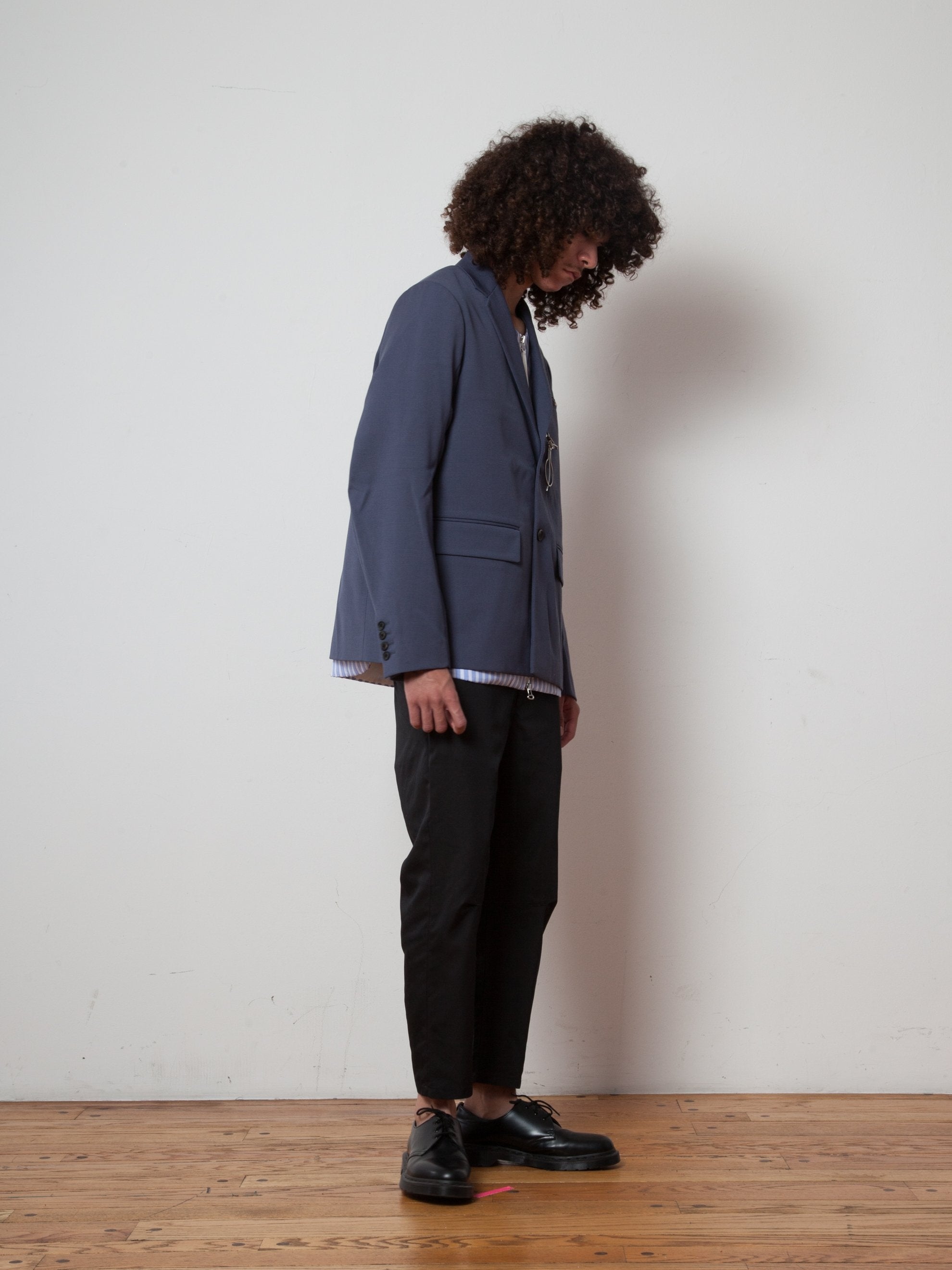 Slate Zip-Lock 2-Button Suit Jacket 3