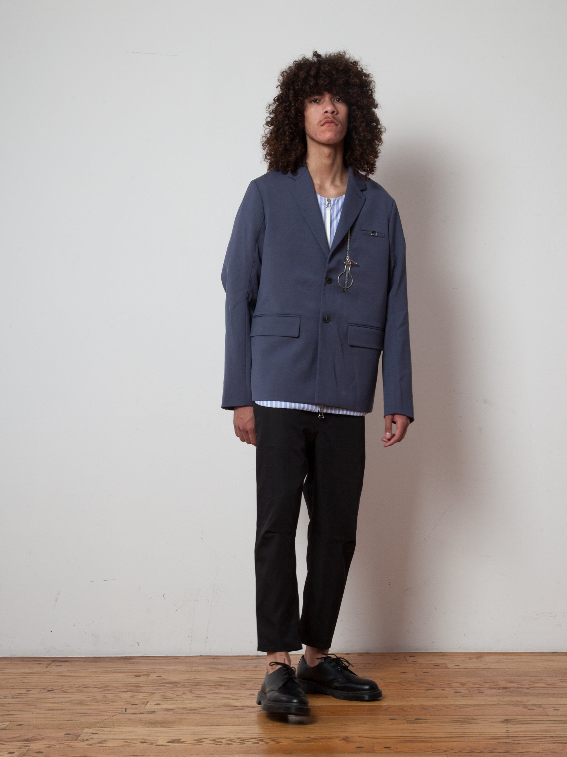 Slate Zip-Lock 2-Button Suit Jacket 5