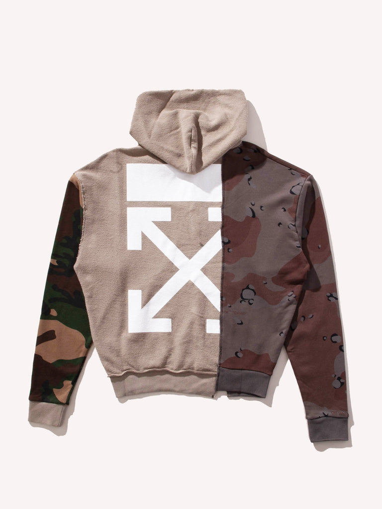 Buy Off White Reconstructed Camo Hooded Sweatshirt Online At Union