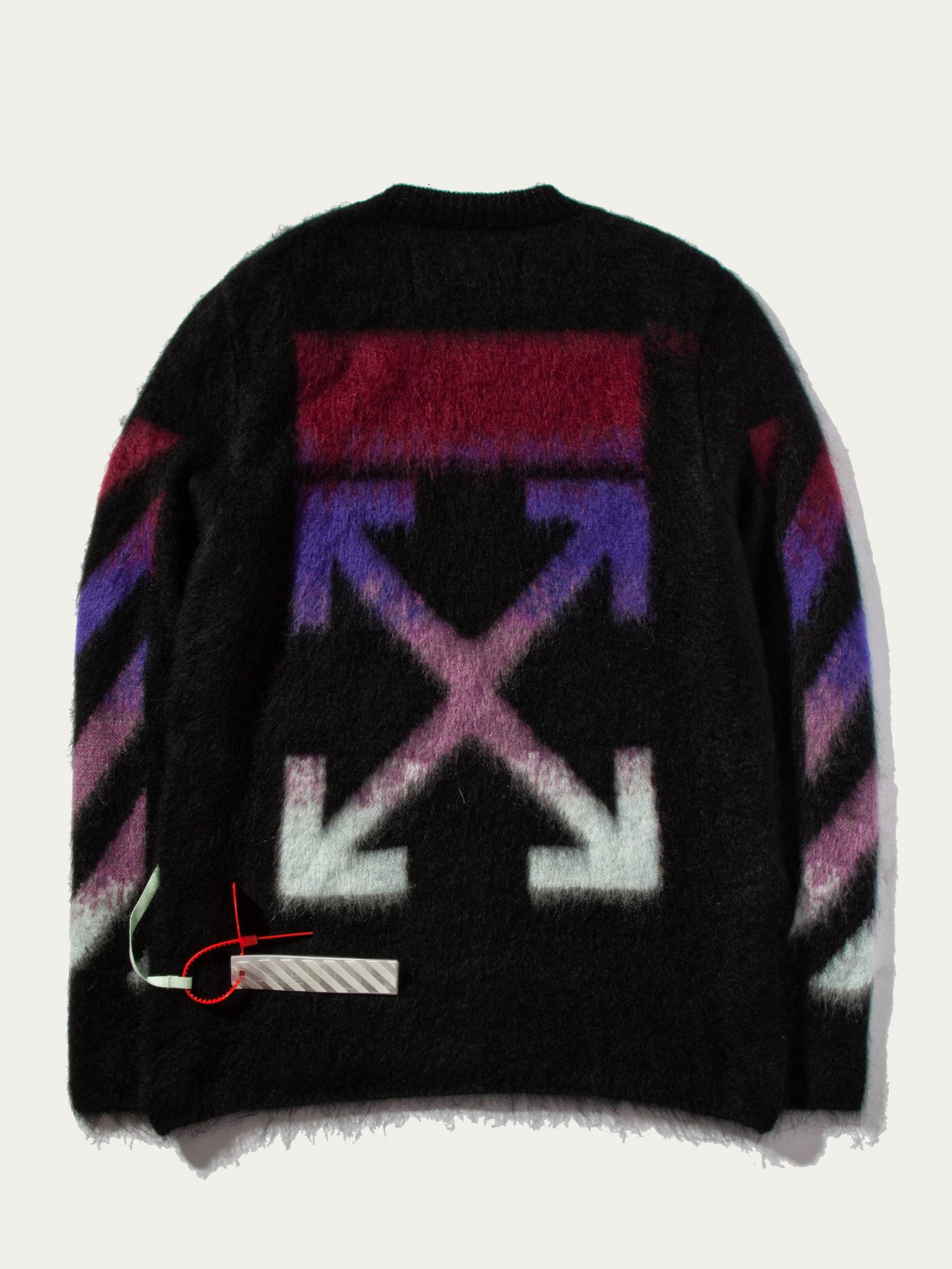 Black Brushed Arrows Sweater 1