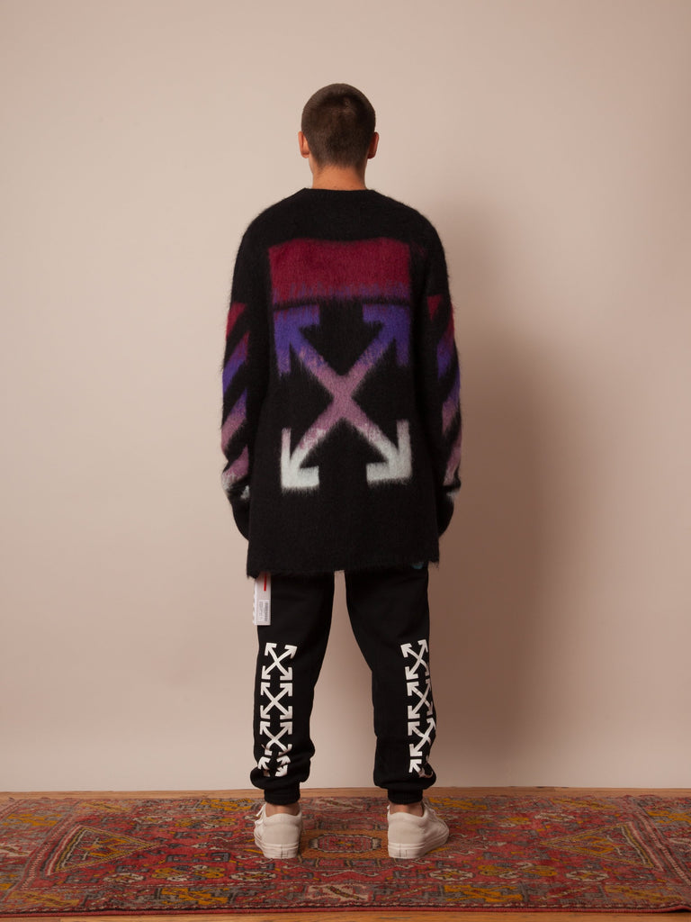 Black Brushed Arrows Sweater 323712790665