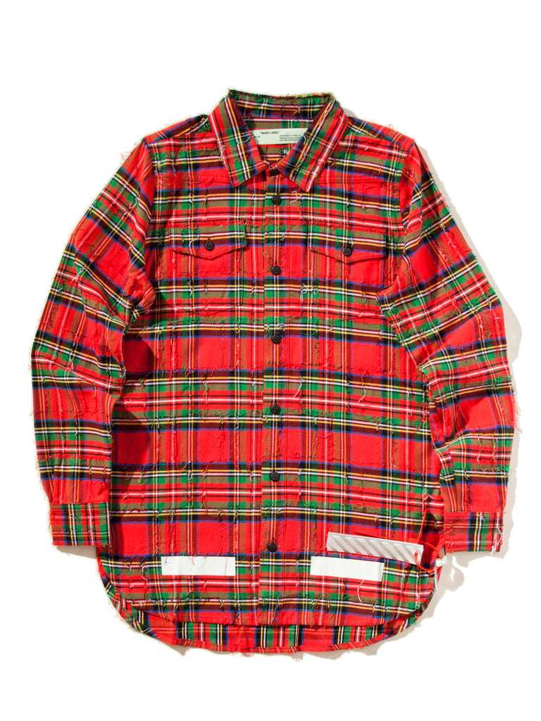Red Check Rips Shirt 523723897161