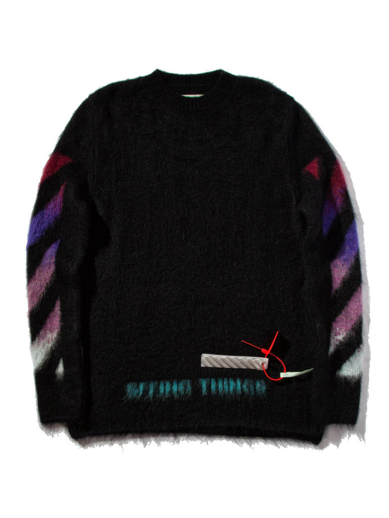 Black Brushed Arrows Sweater 623723912393