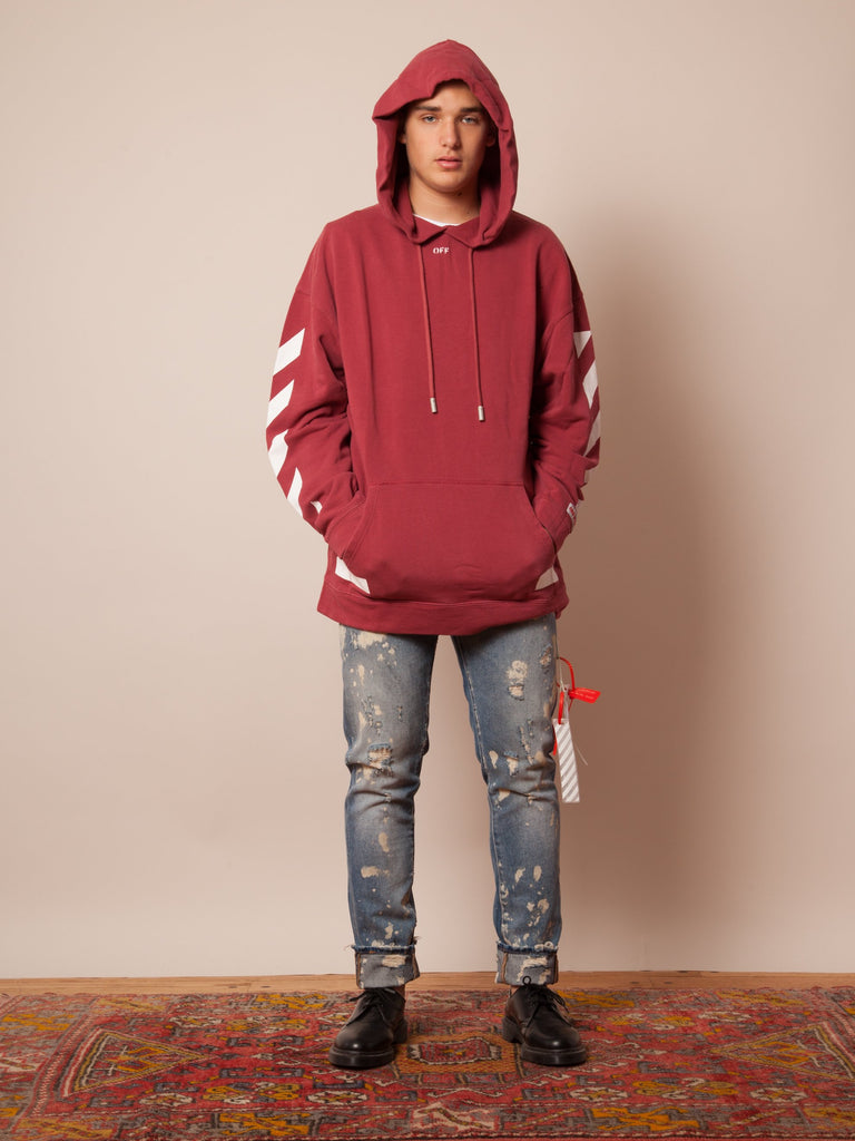 Diag Arrows Hooded Sweatshirt