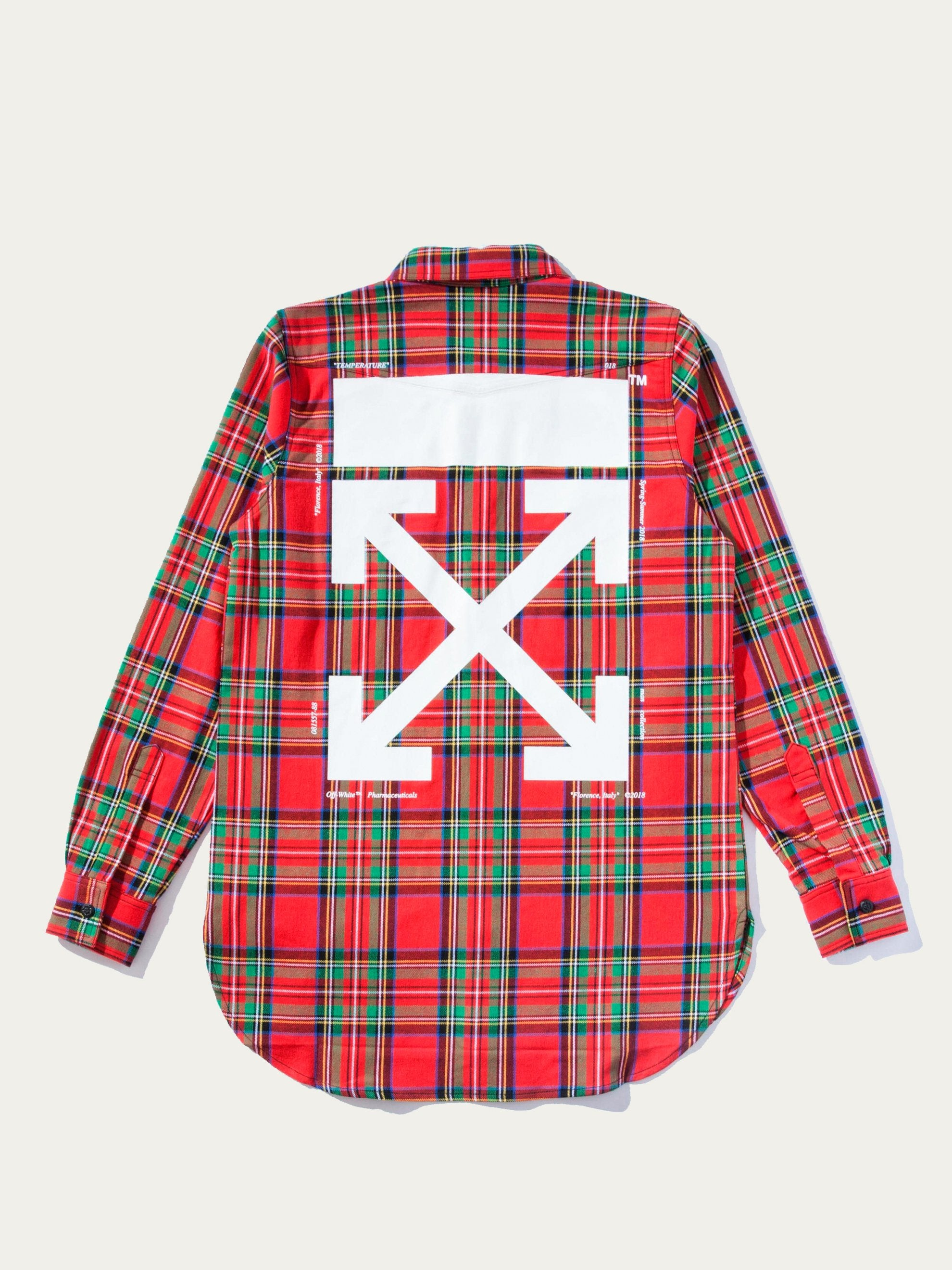 All Over White Red Check Shirt 1