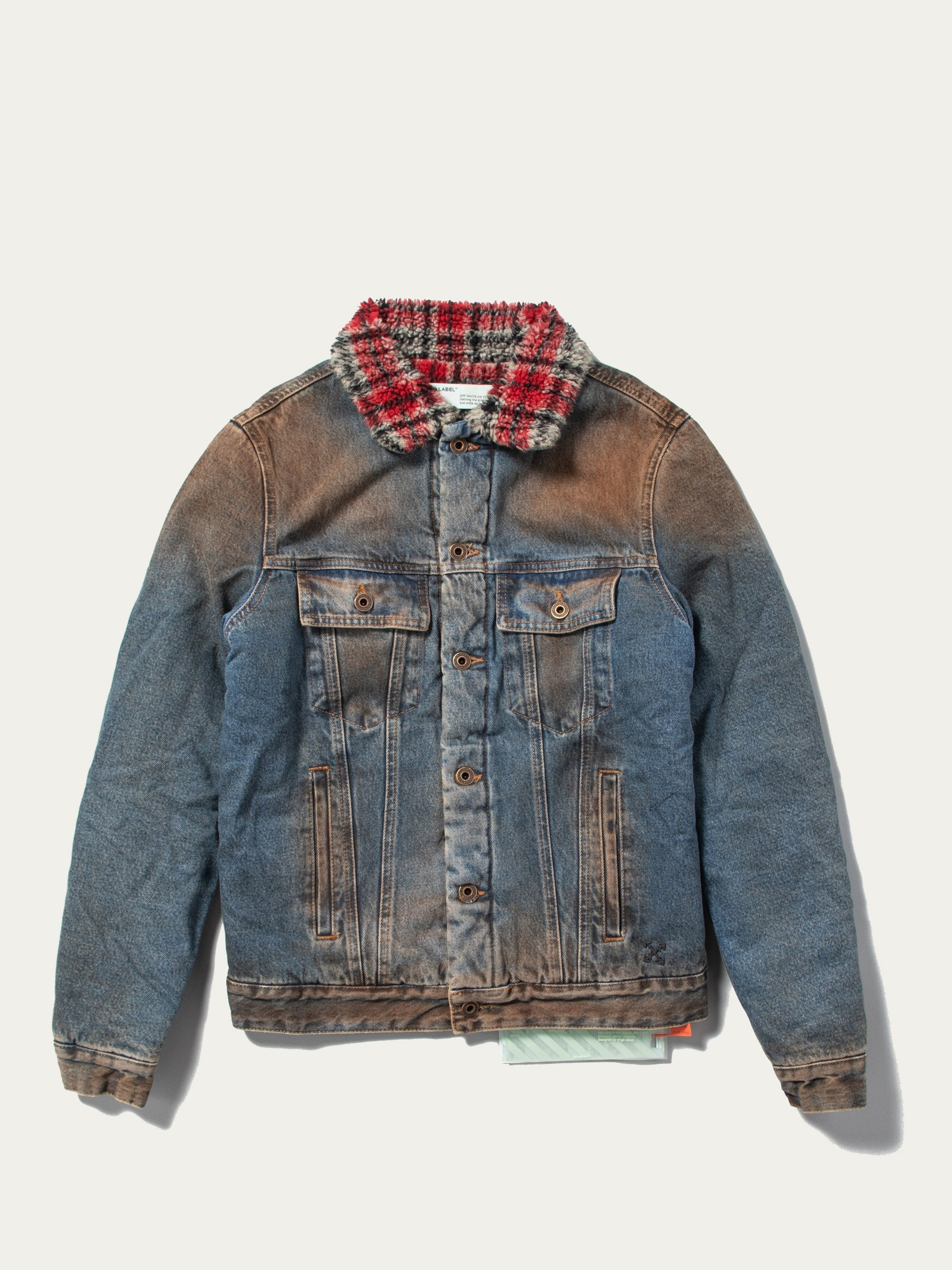 Dirty Blue / Black Eco Shearling Denim Jacket 1