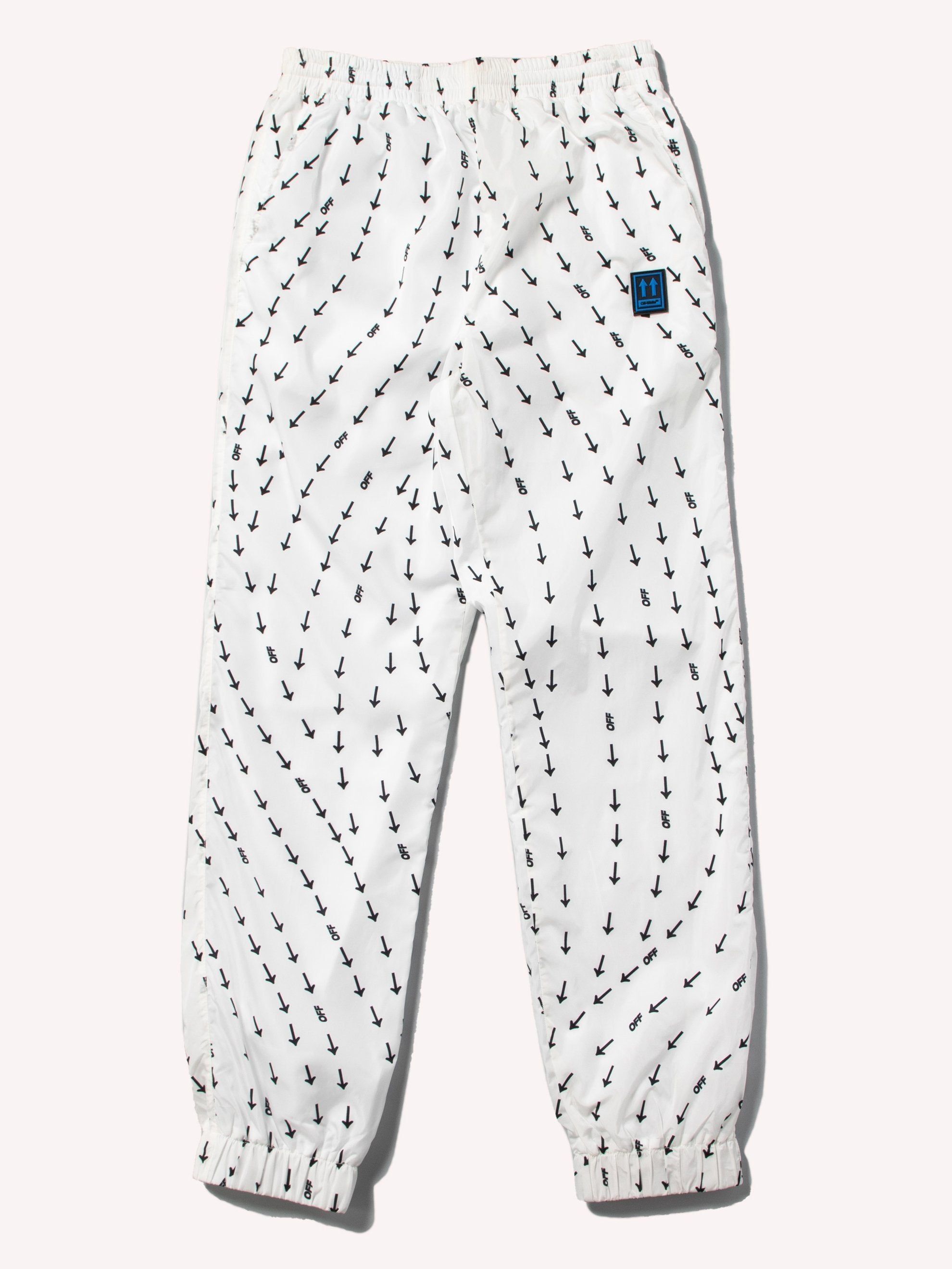 White Arrow Print Track Pants 1