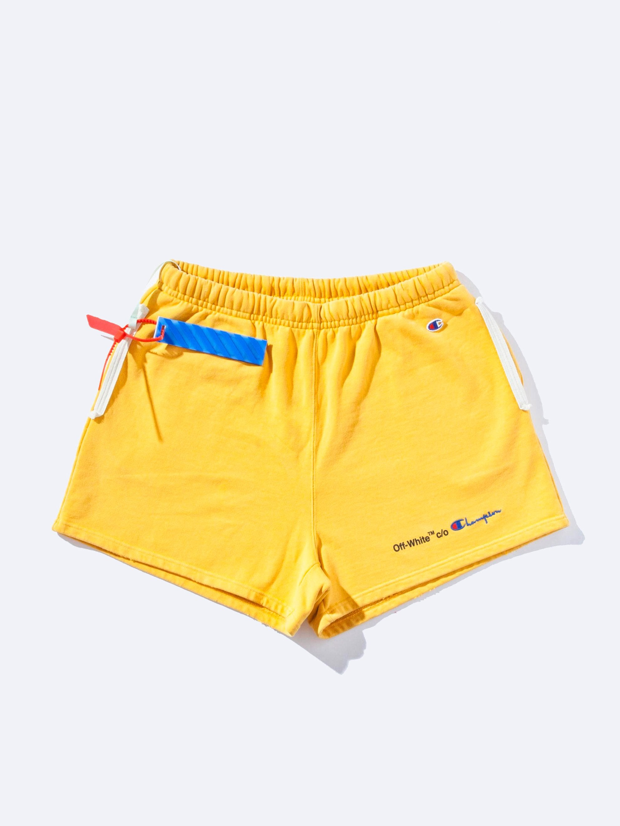 Yellow/Black Champion Shorts 1