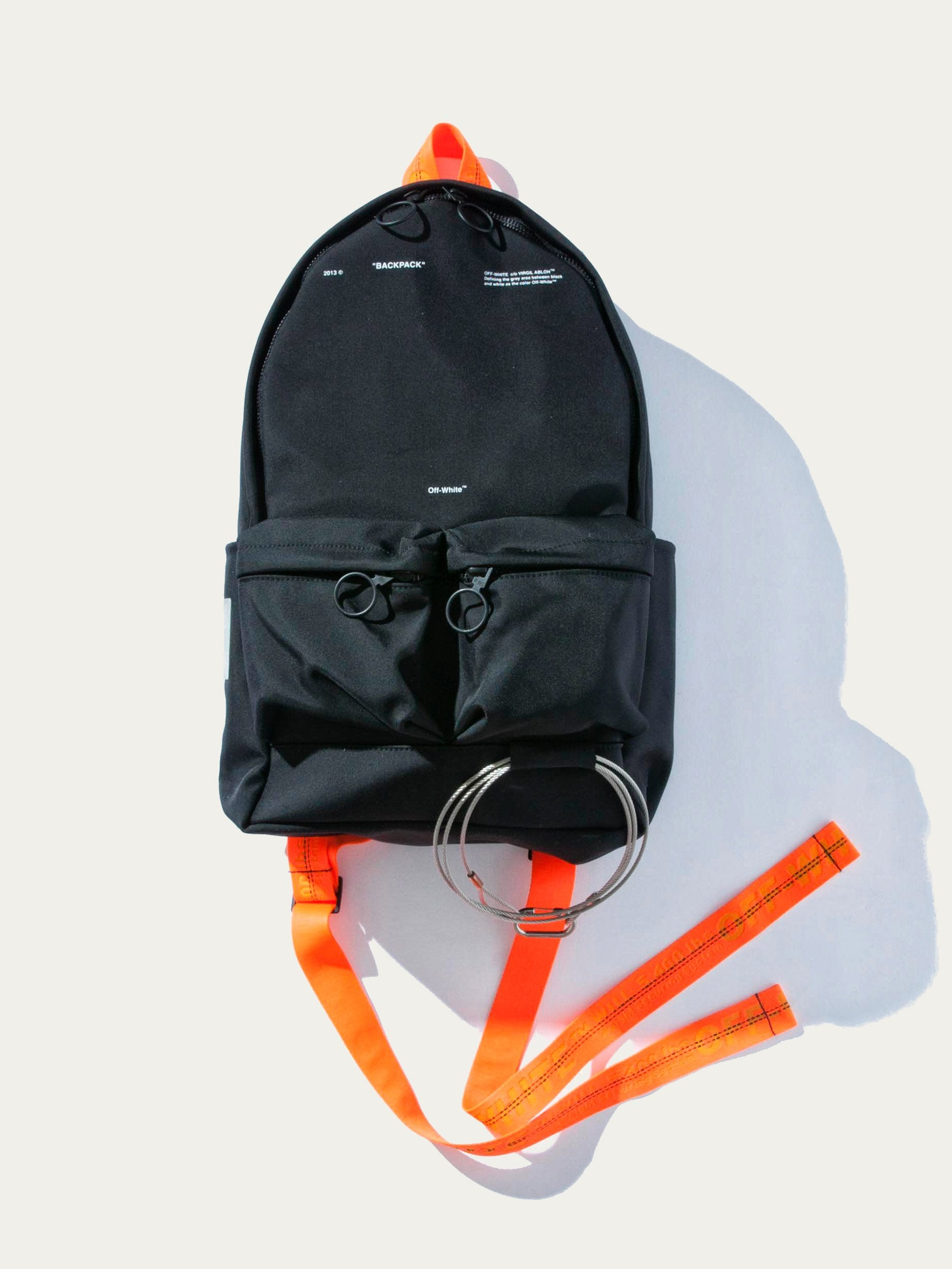 Black No Color Tape Backpack 1