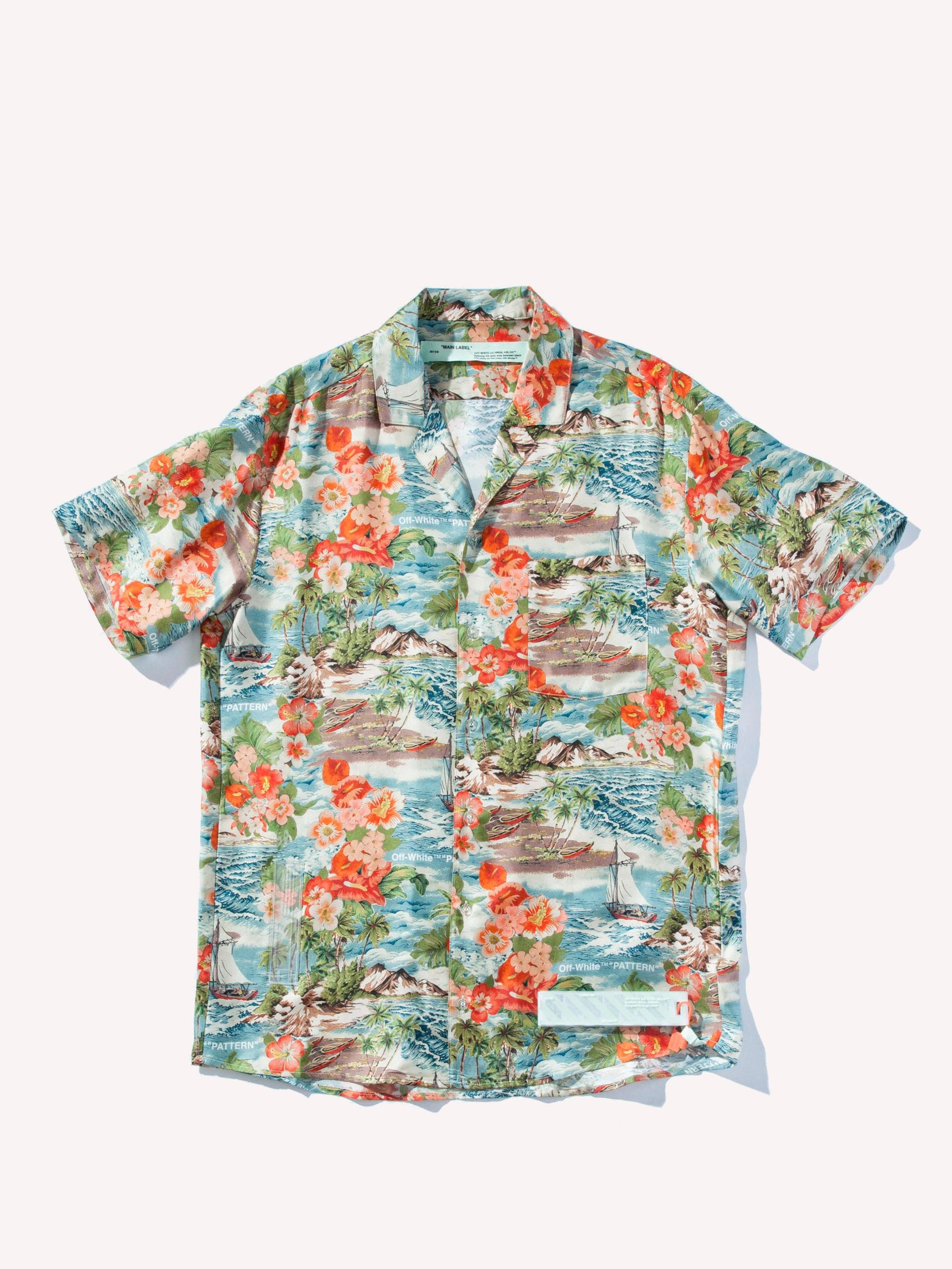 All Over/No Color Multicolor Hawaiian Shirt 1