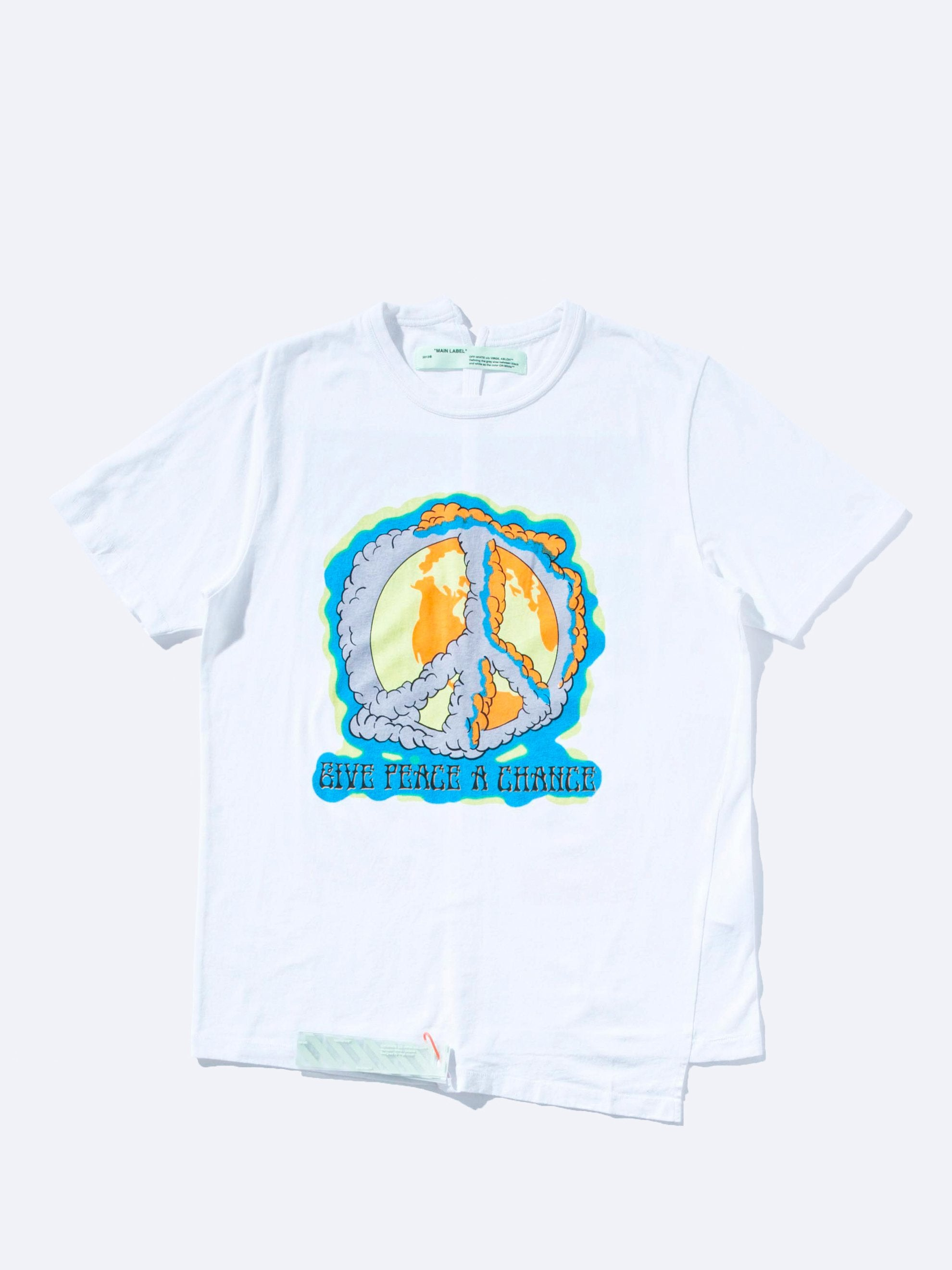 White/Multicolor Peace Chance Spliced S/S T-Shirt 1
