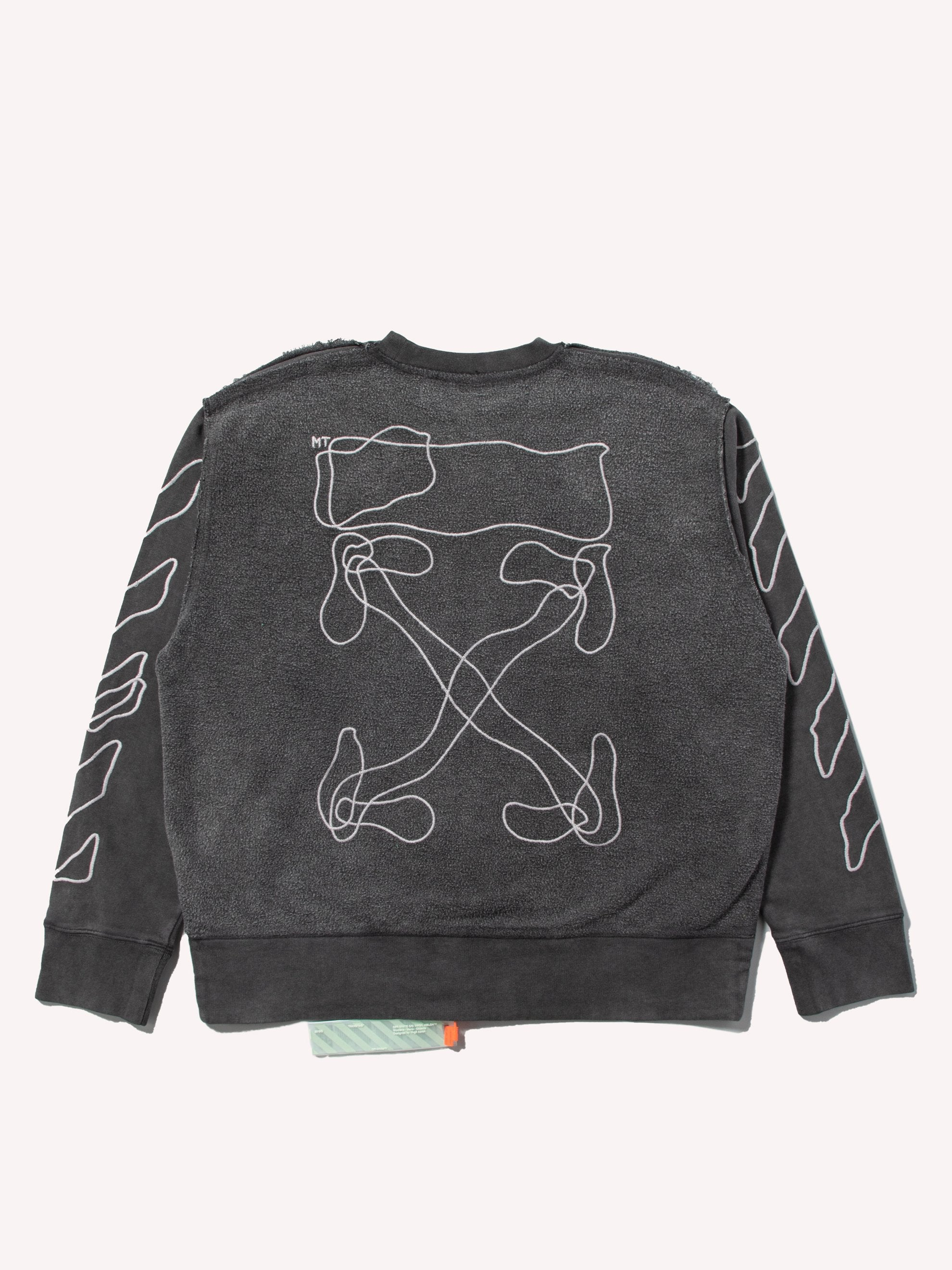Black / White Abstract Arrows Incomp Crewneck 1