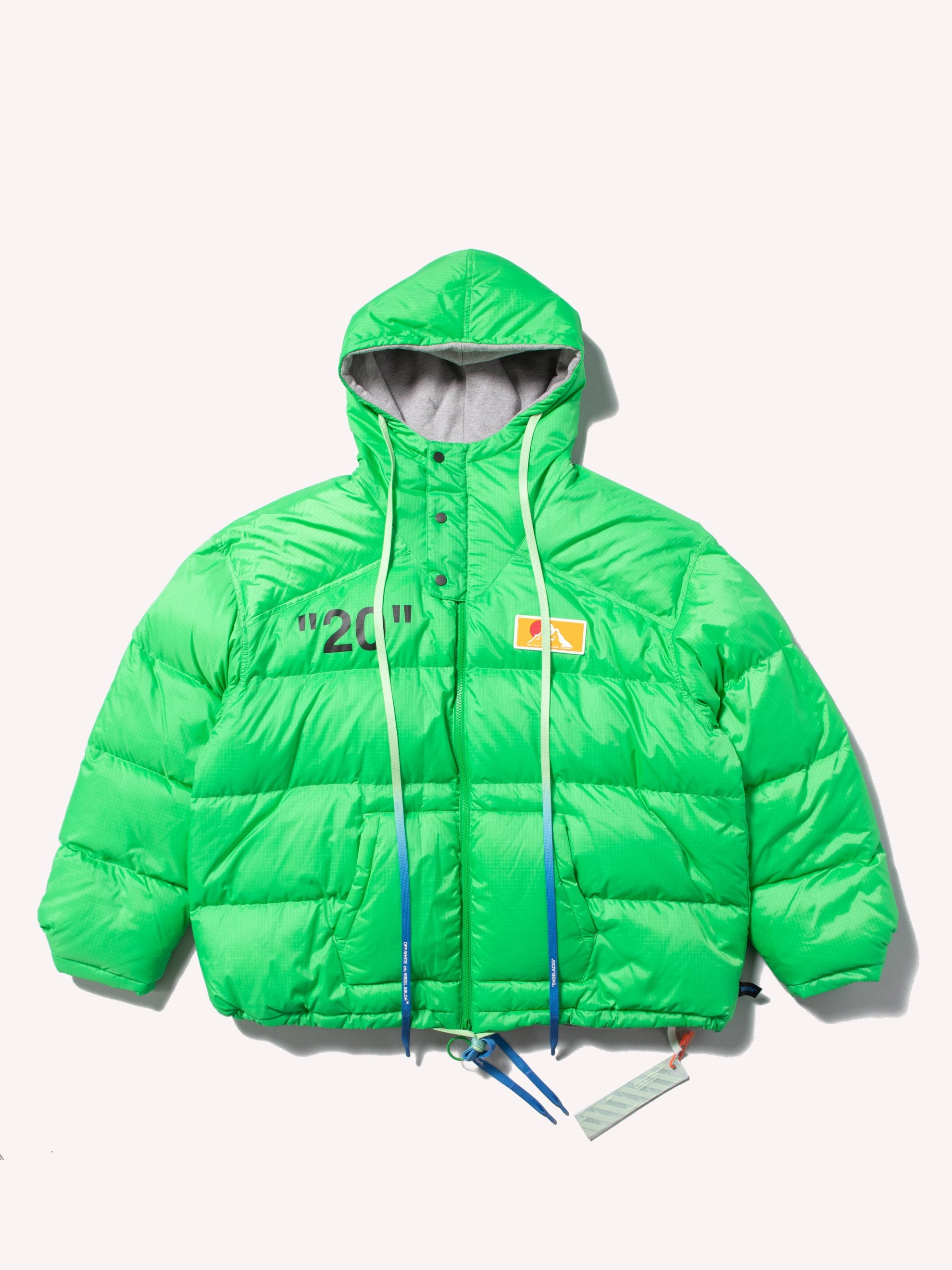 Green / Black OW Zipped Puffer 1