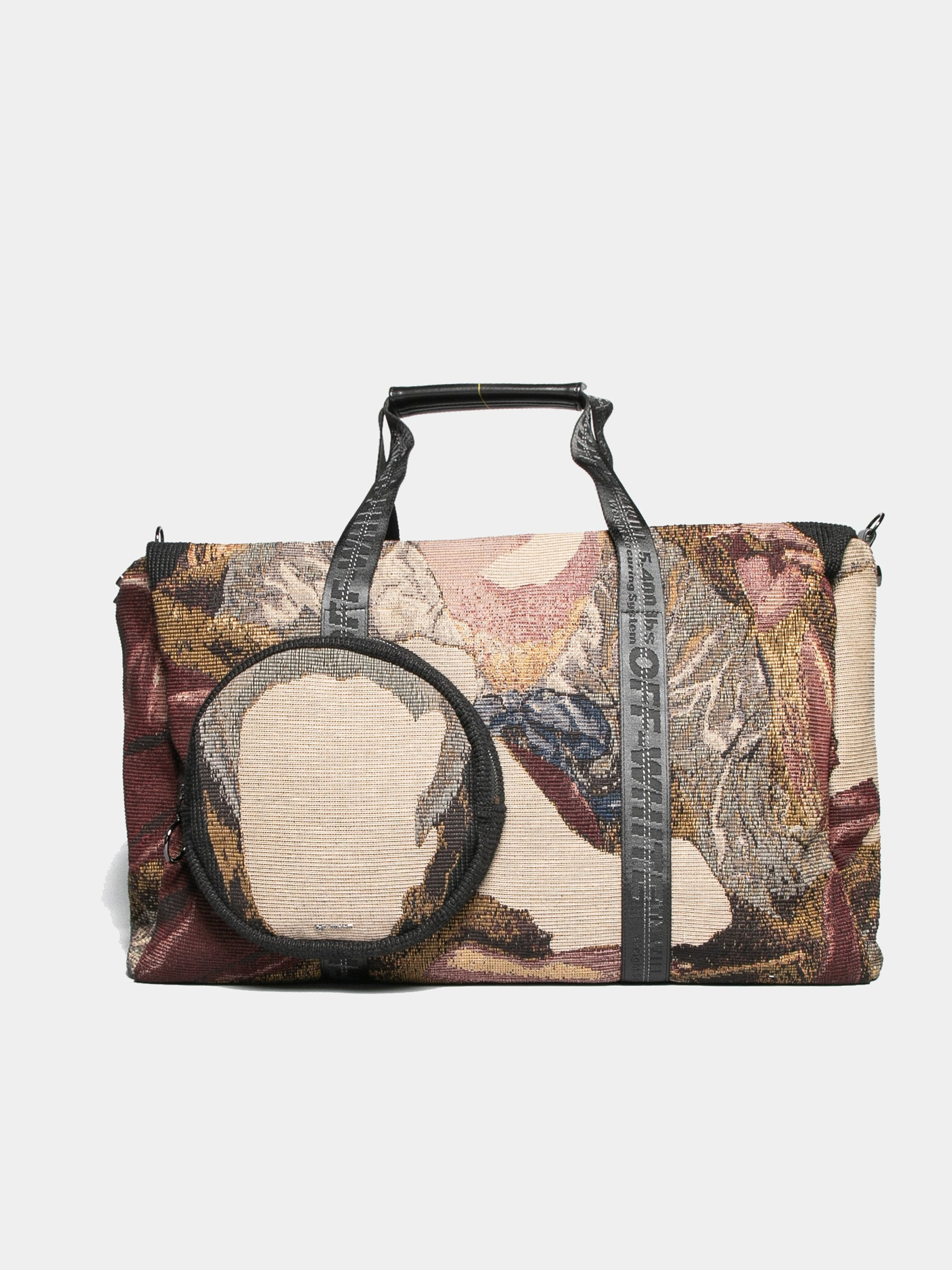 Black / Multicolor Tapestry Duffle Bag 1