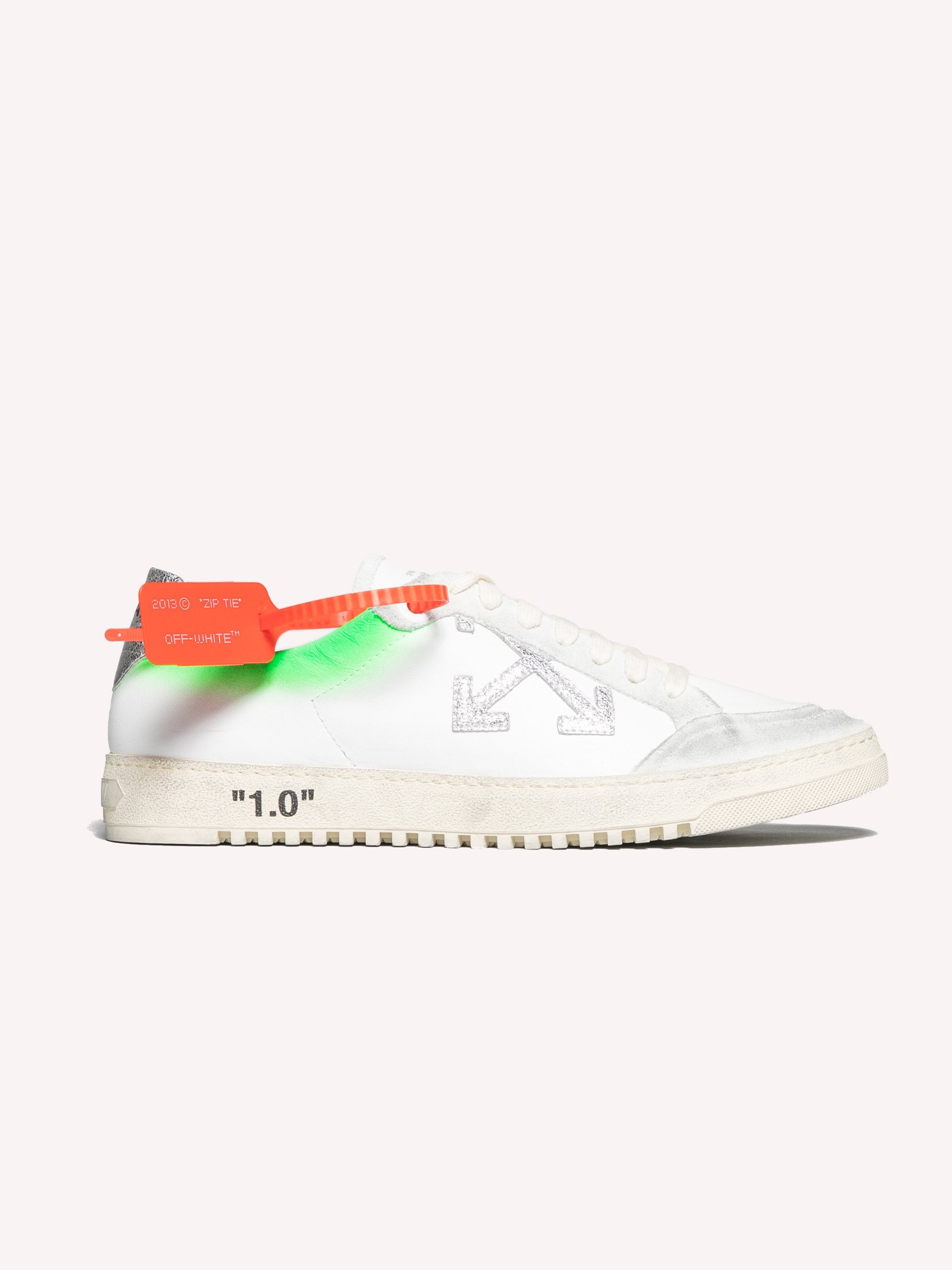 White / Green 2.0 Sneakers 1