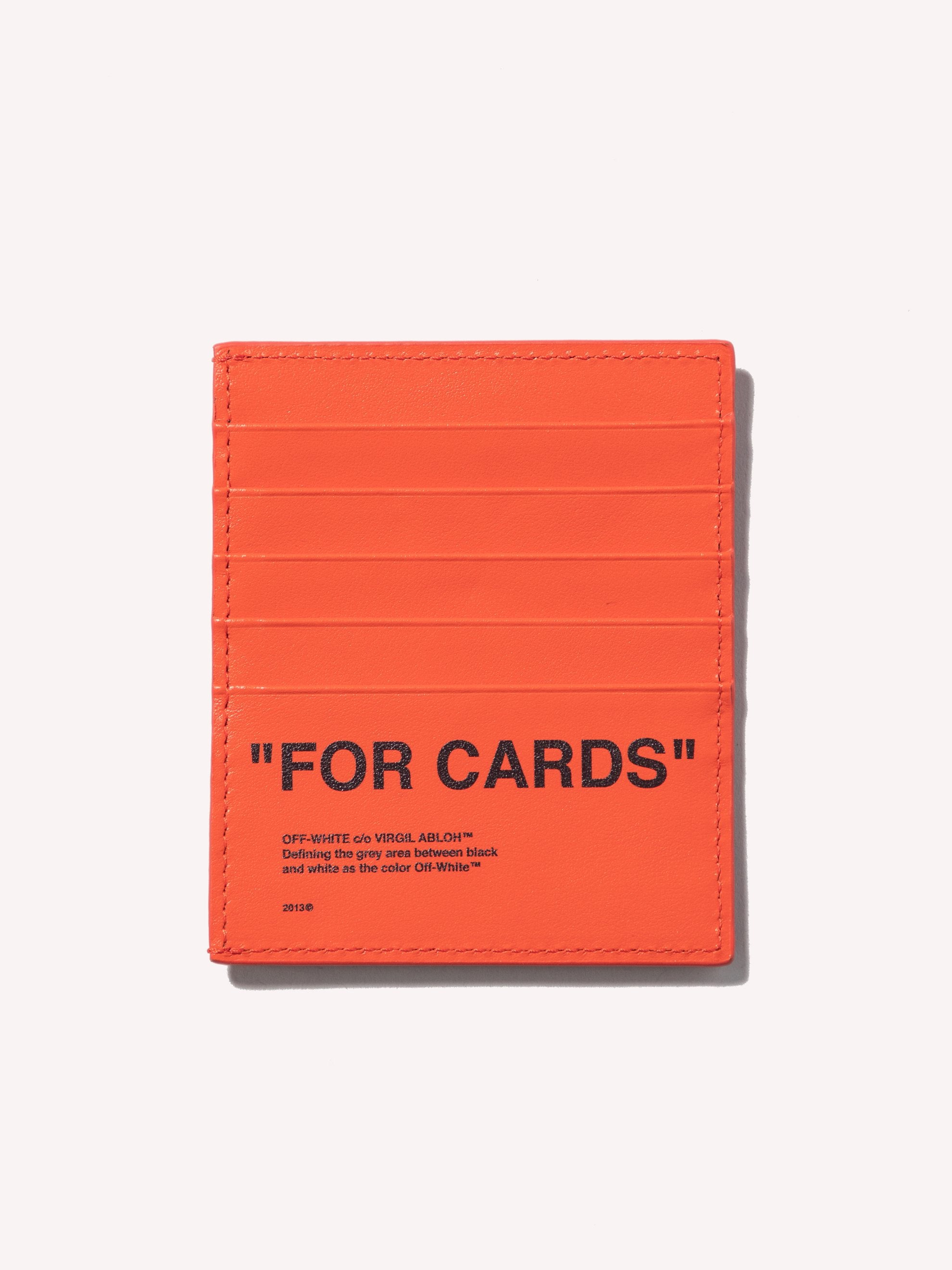 Black / Orange Quote Card Holder 1