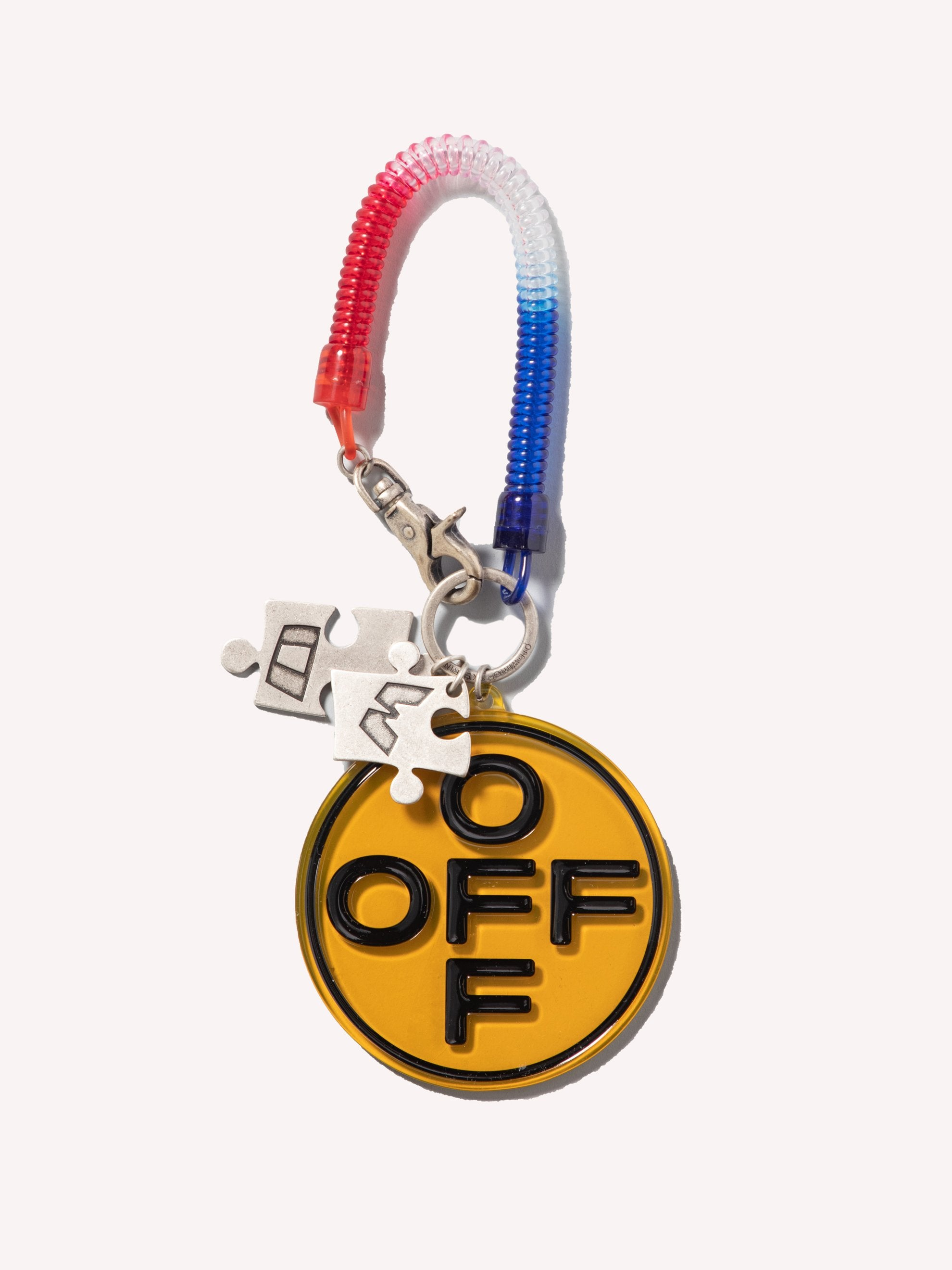 Red / Orange Off Cross Bungee Key Ring 1