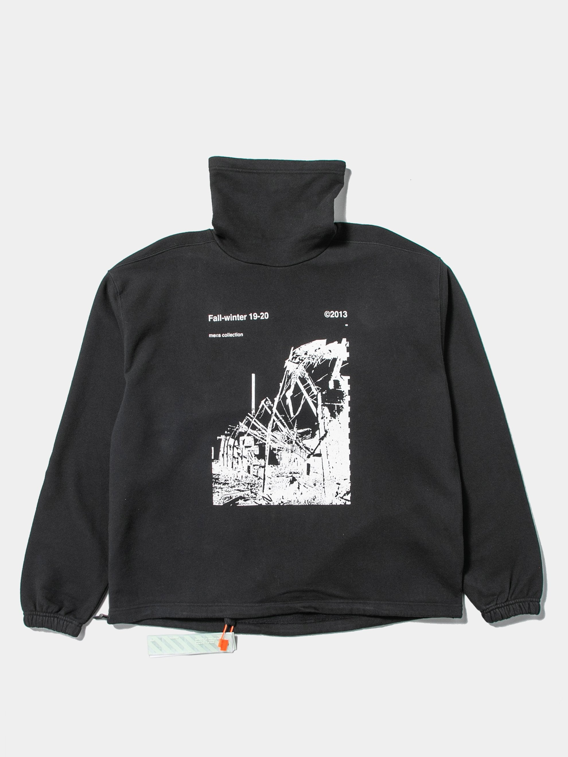 Black / White Ruined Factory Funnel Neck Sweatshirt 4