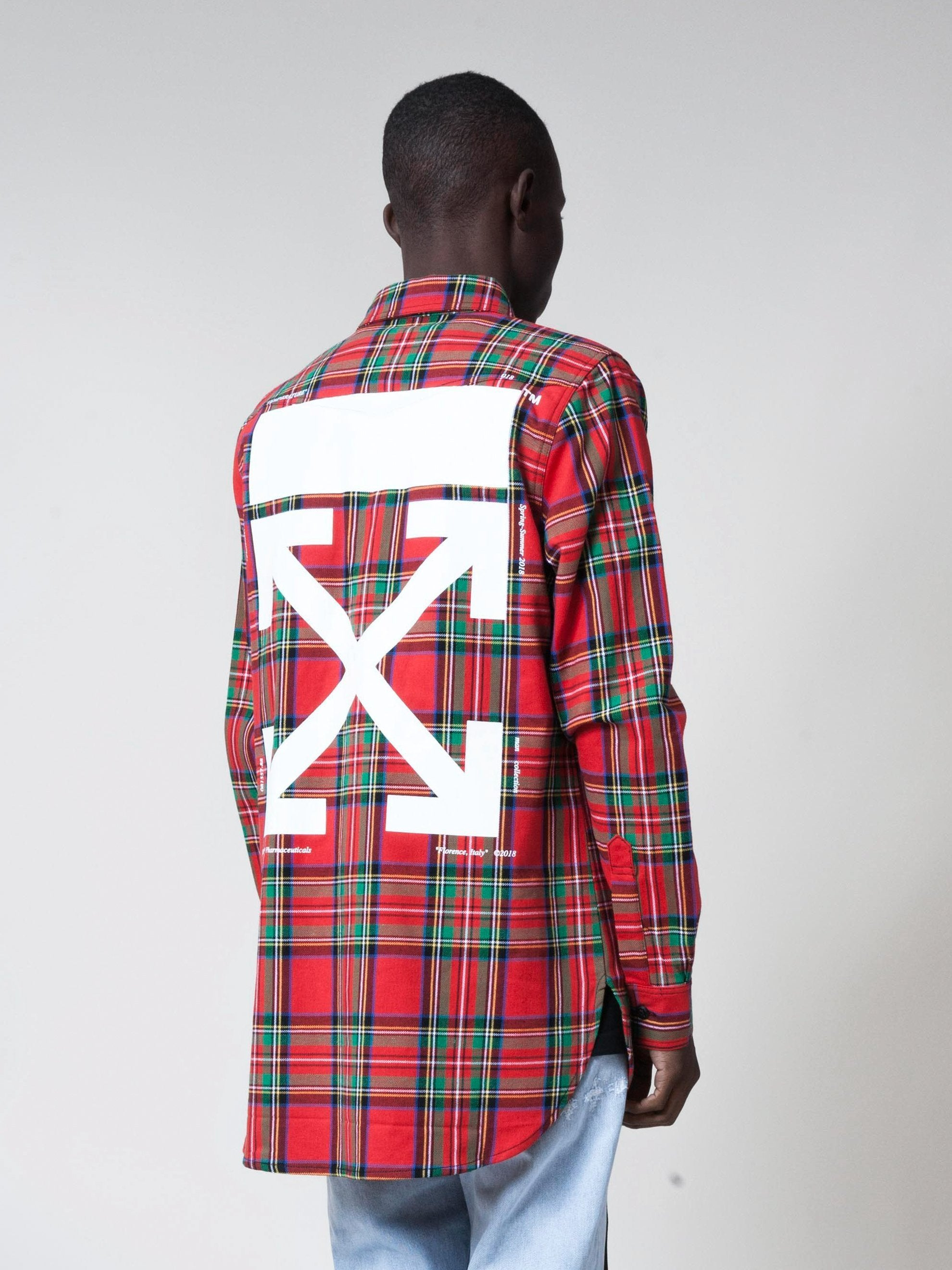All Over White Red Check Shirt 5