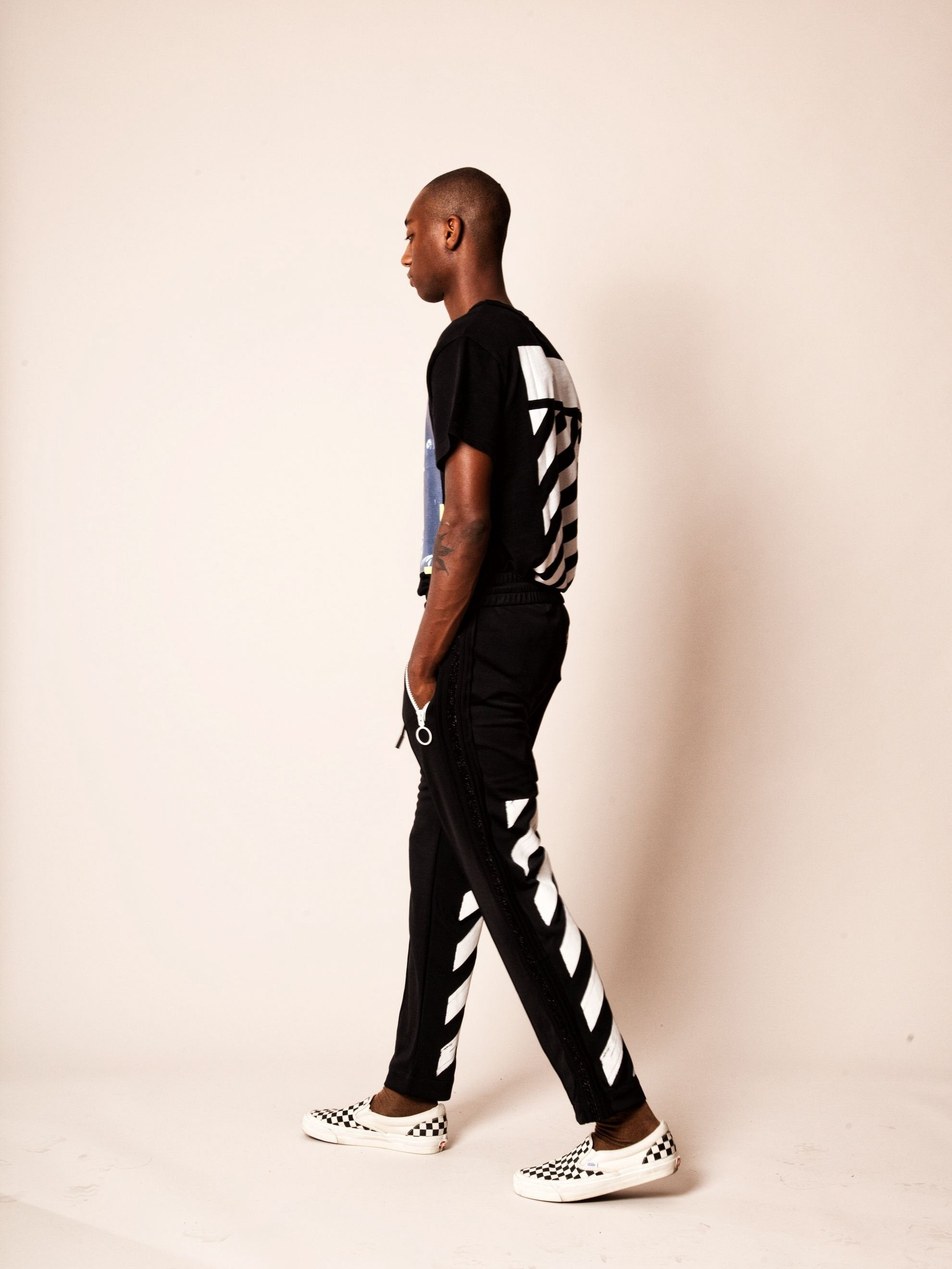 Diagonal Brushed Track Pant