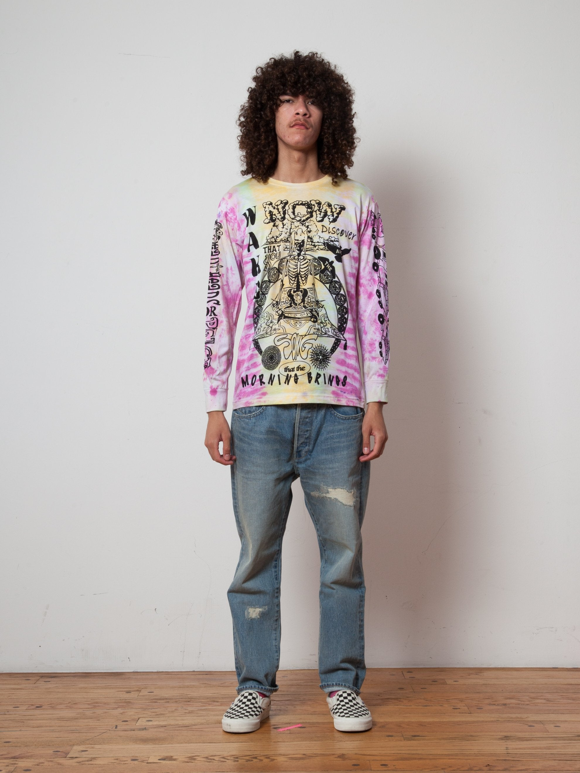 Tie Dye Heads For Peace Long Sleeve T-Shirt 2