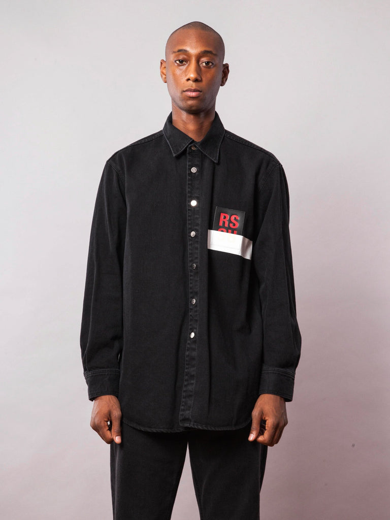 Black Carry Over Denim Shirt 242069917705