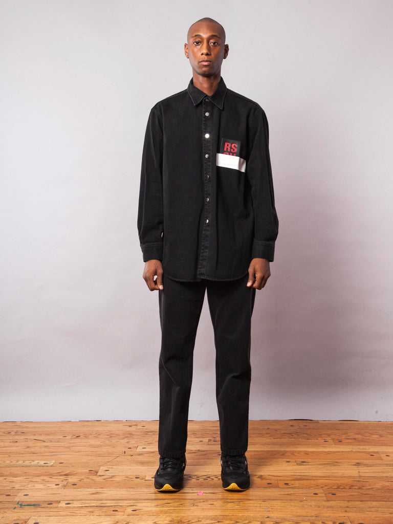 Black Carry Over Denim Shirt 342070671369